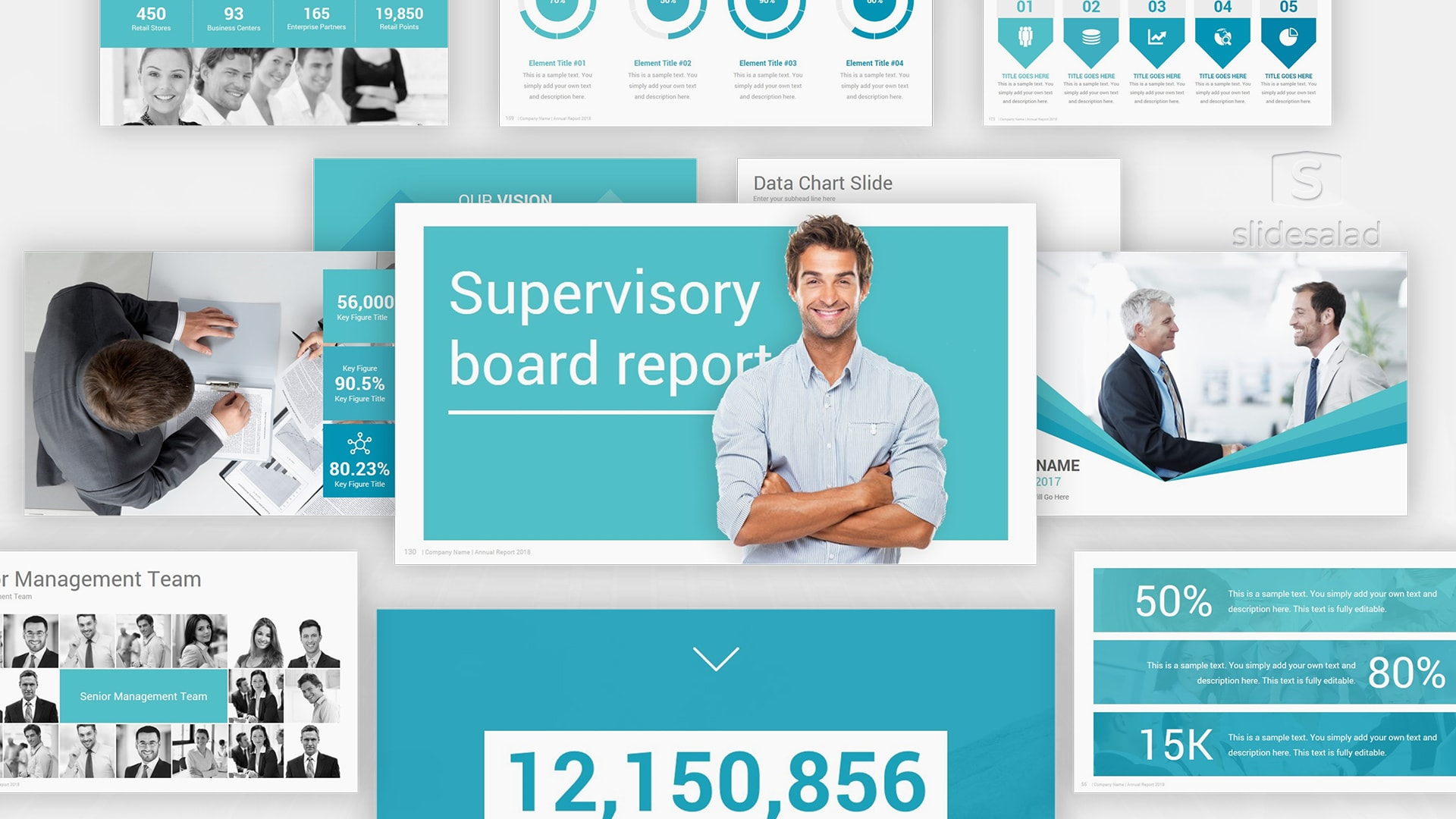 Best Annual Report Google Slides Presentation Templates – Top Selling Premium Yearly Audit Report Google Slides Theme