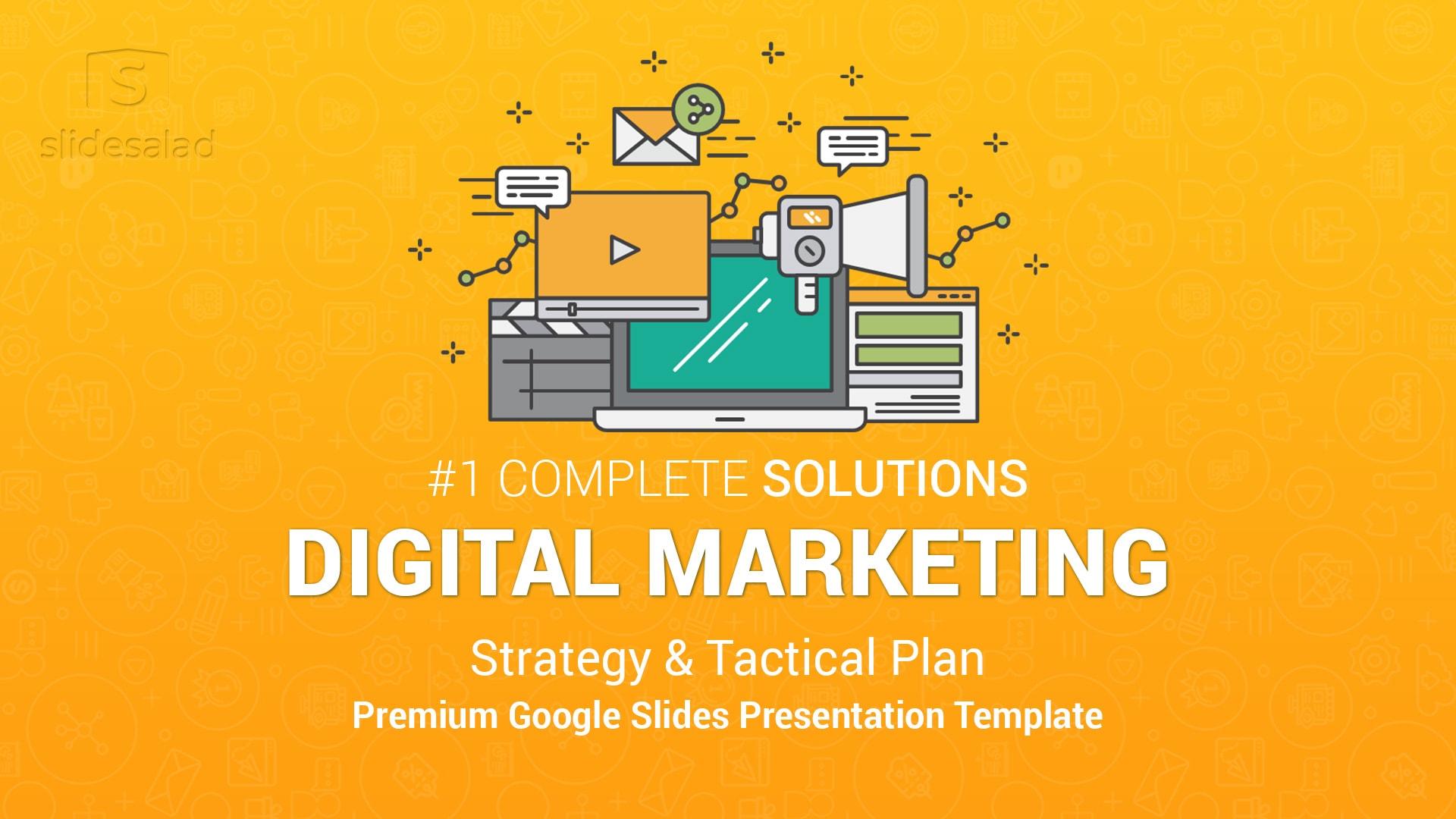 Best Digital Marketing Google Slides Template – Top Selling Comprehensive Online Marketing Template for Google Slides