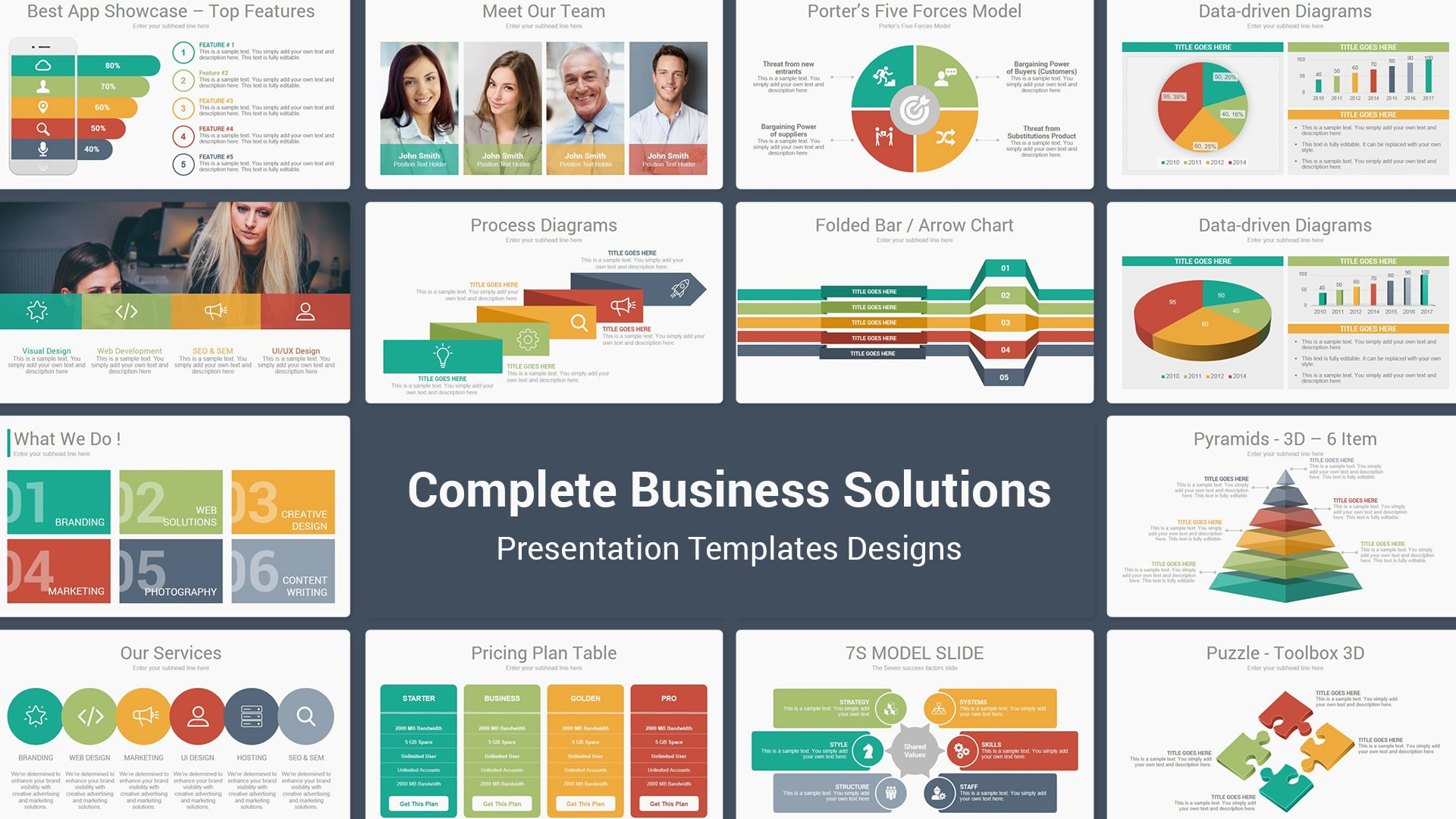 Complete Business Solutions Multipurpose PowerPoint Templates – Perfect Pitch Deck PowerPoint Template