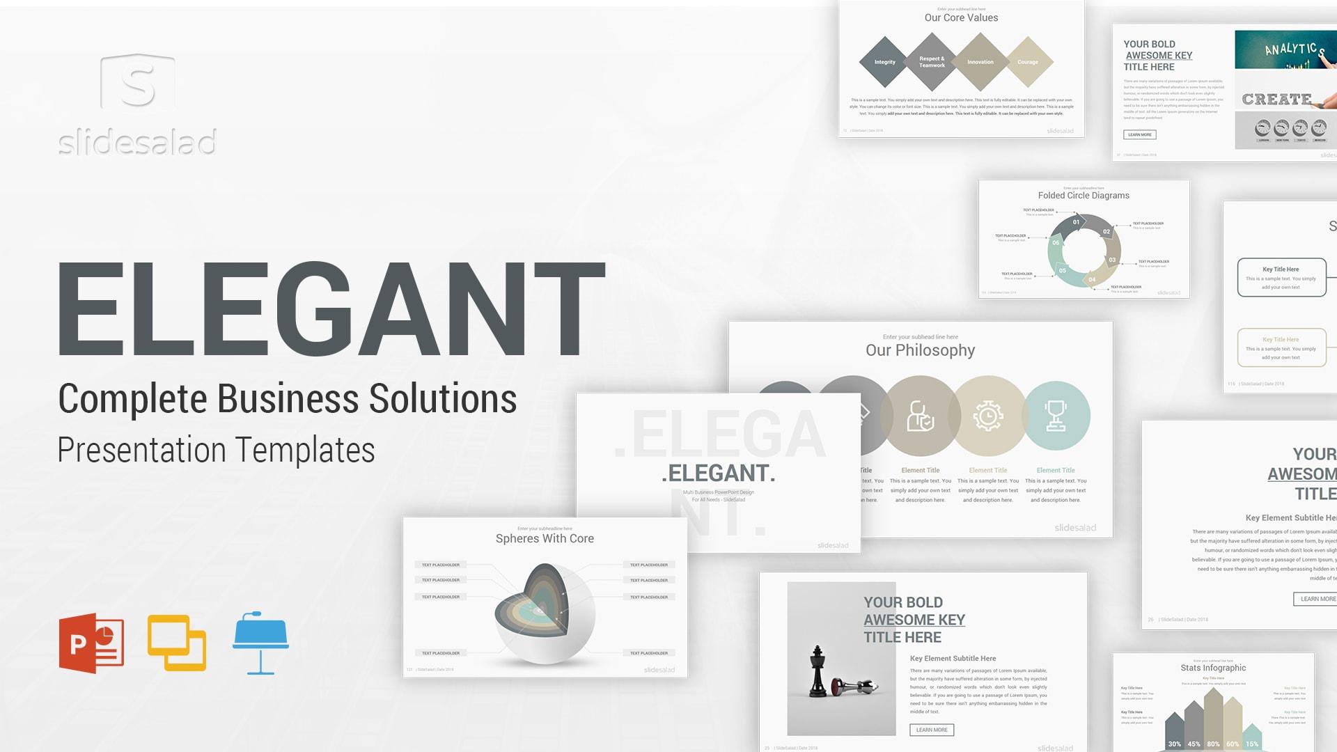 Elegant PowerPoint Pitch Template Deck – Elegant PowerPoint Presentation Templates Designs
