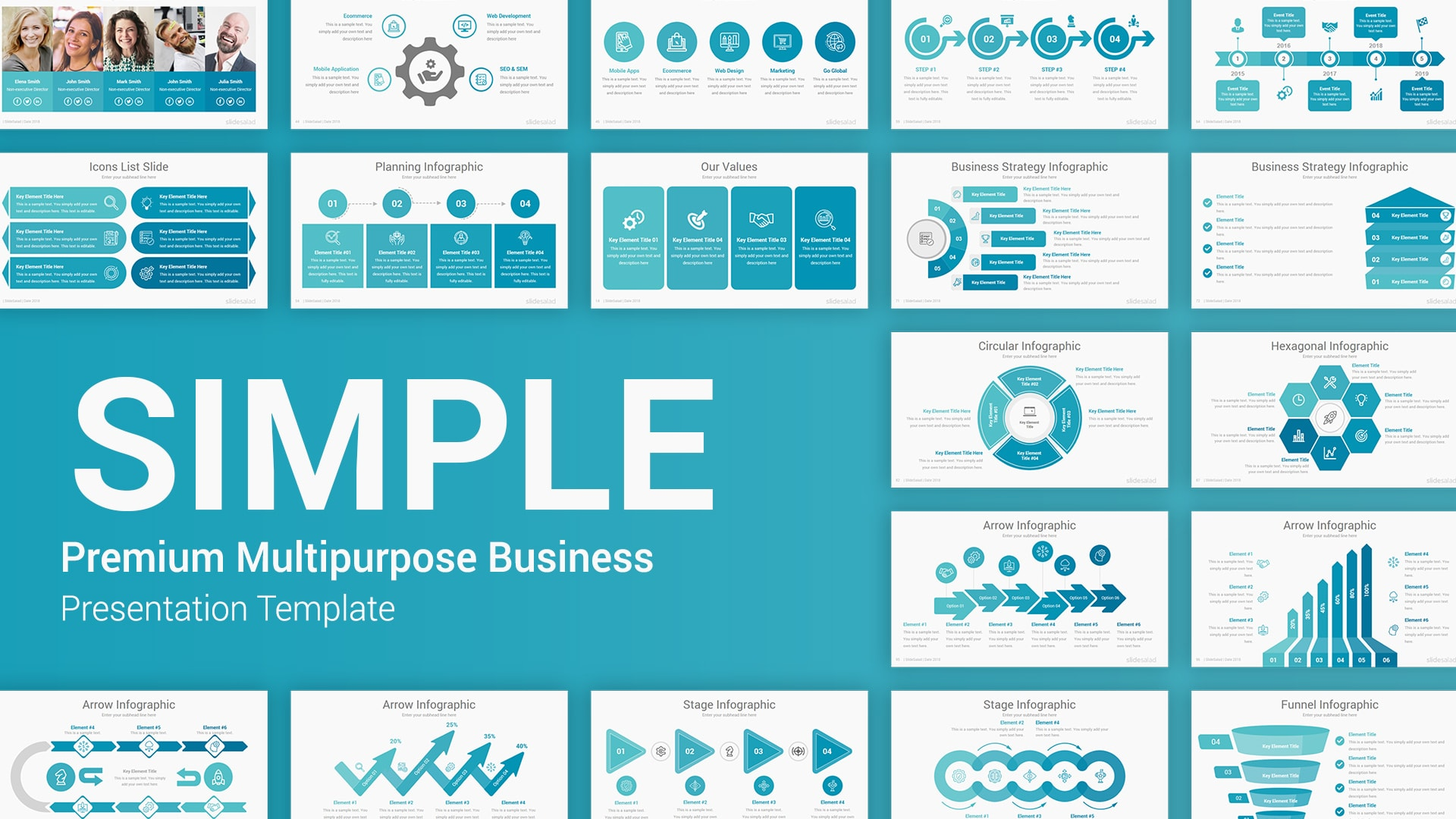 Simple PowerPoint Presentation Templates – Startup Pitch Deck PowerPoint PPT Template