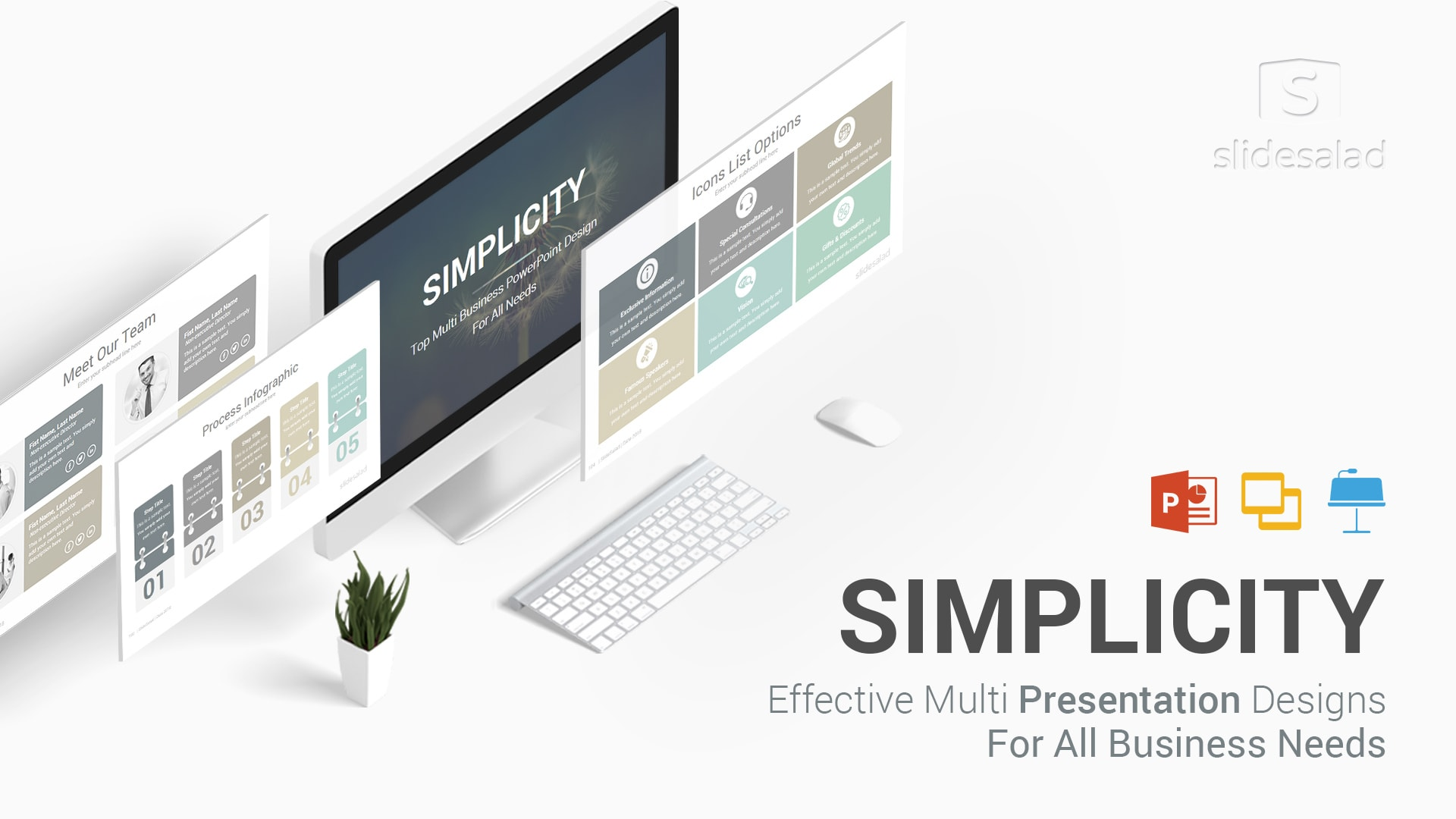 Simplicity Professional Business PowerPoint Templates – Business Pitch Deck for PowerPoint