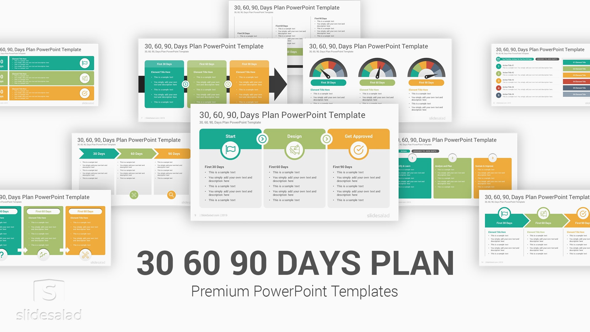 30 60 90 Days Plan PowerPoint Template – PowerPoint Strategy PPT Design Template