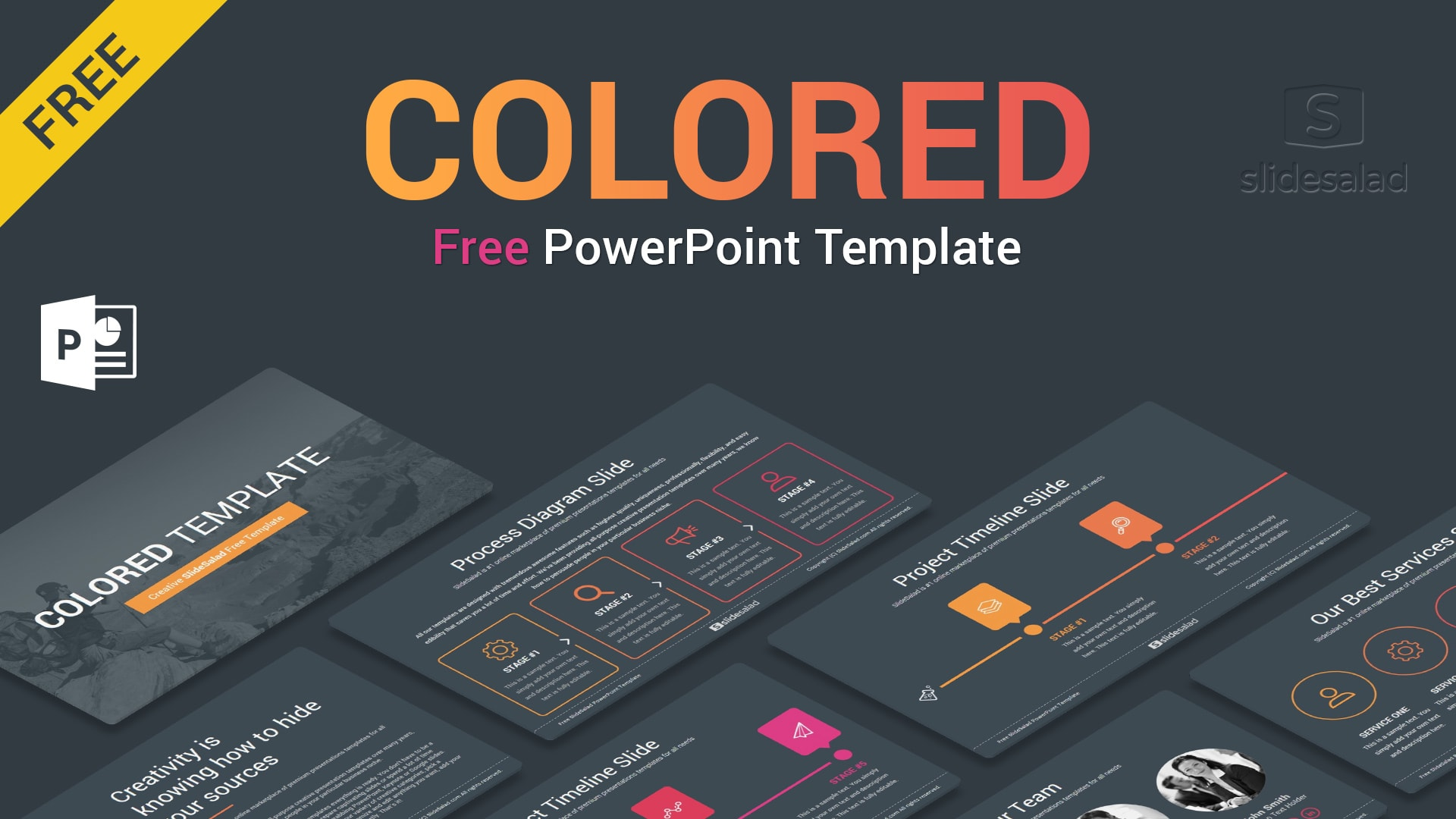 Colored Free Business PowerPoint PPT Themes – Beautiful PowerPoint Presentation Templates