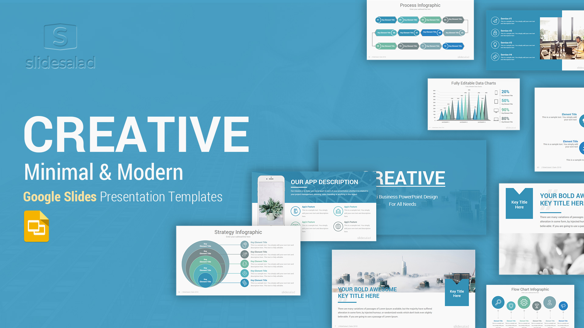 Creative Business Google Slides Template – Colorful and Energetic Theme for Creative Professionals and Businesses
