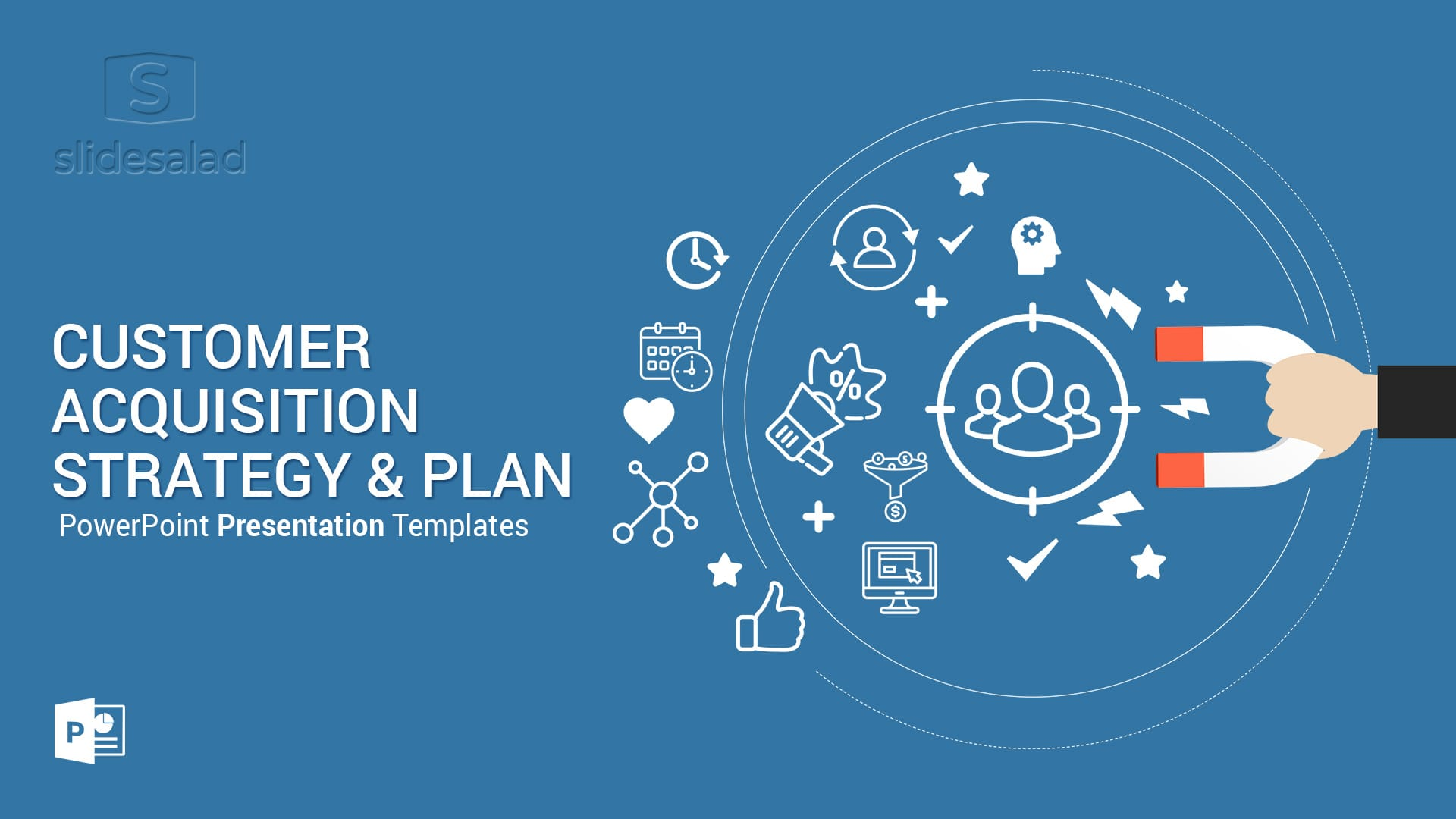 Customer Acquisition Strategy and Plan PowerPoint Templates Diagrams – Powerful Modern PowerPoint Template