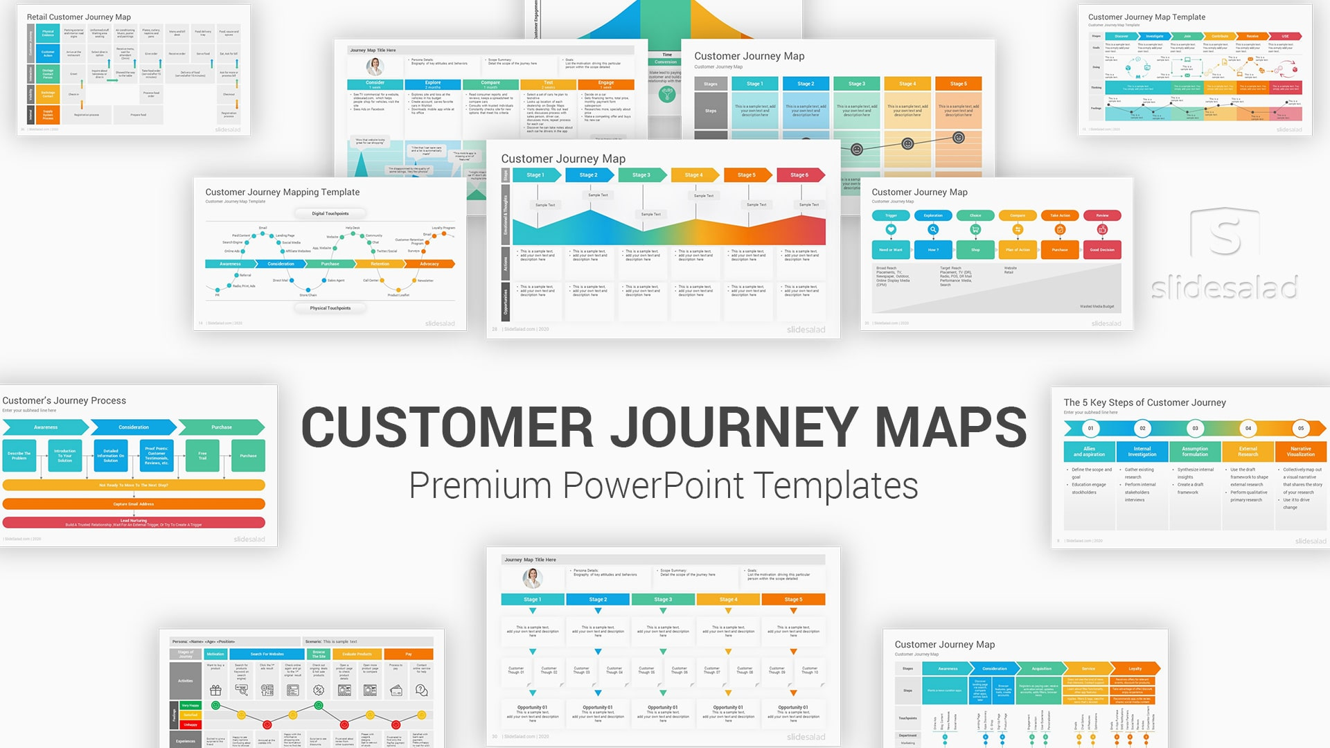 Customer Journey Maps PowerPoint Template Diagrams – Top Marketing PowerPoint Templates