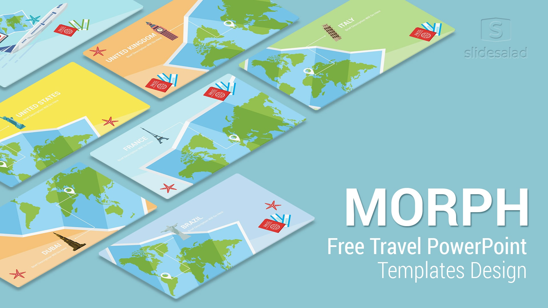 Morph Travel: Free Travel PowerPoint Templates Design Slides – Most popular Free Travel and Tourism PPT Templates
