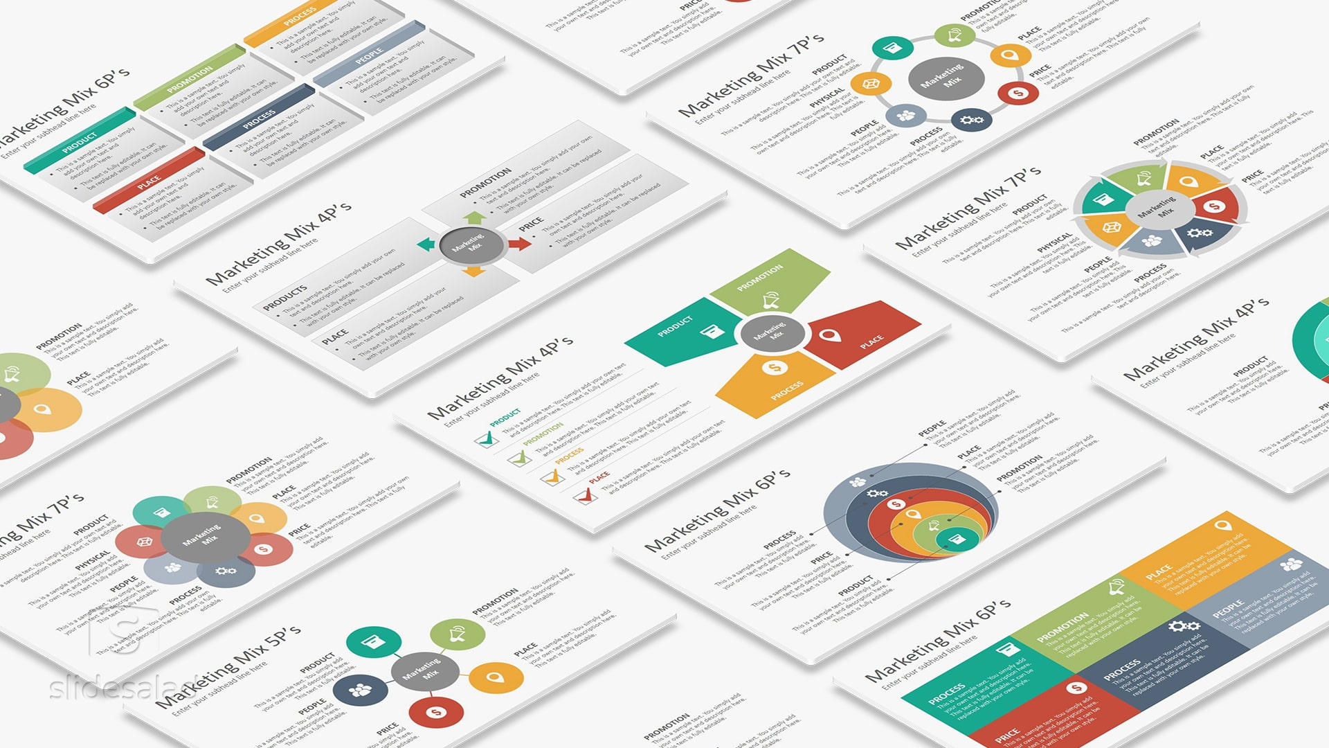Marketing Mix Diagrams PowerPoint Presentation Template – PowerPoint Template Design for Professionals