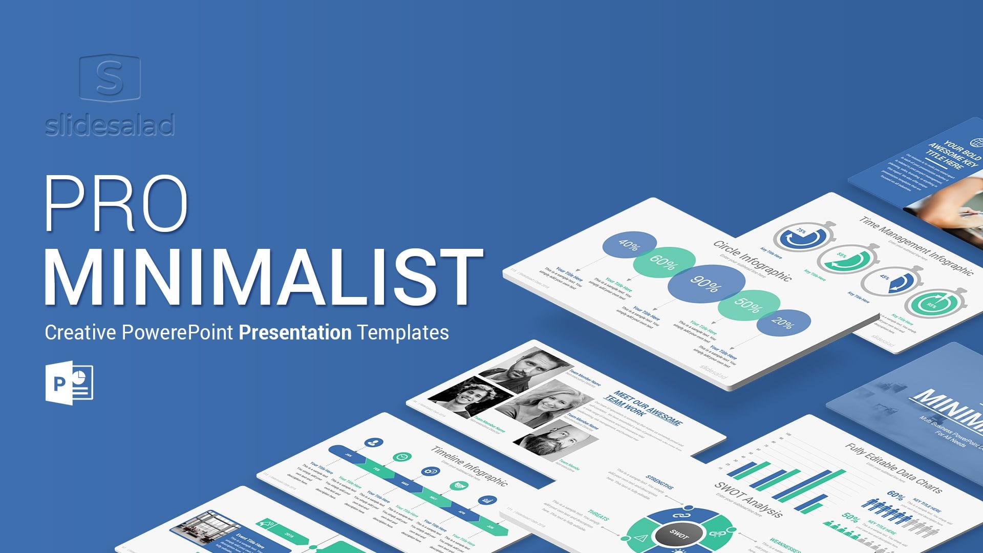 Pro Minimalist PowerPoint Template Designs – Beautiful Animation Presentation Templates