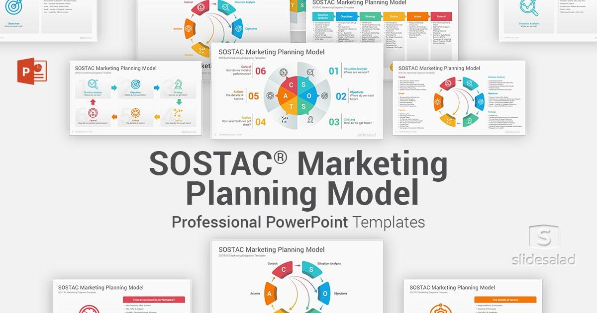 SOSTAC Marketing Model PowerPoint Template Diagrams – PowerPoint PPT Design for Marketing Models