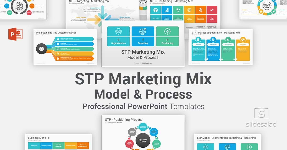 STP Marketing Mix PowerPoint Template Diagrams – PPT PowerPoint Plan Template