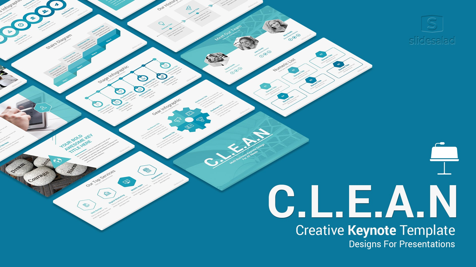 Clean Business Keynote Template – Trendy Design Keynote Theme for Mac