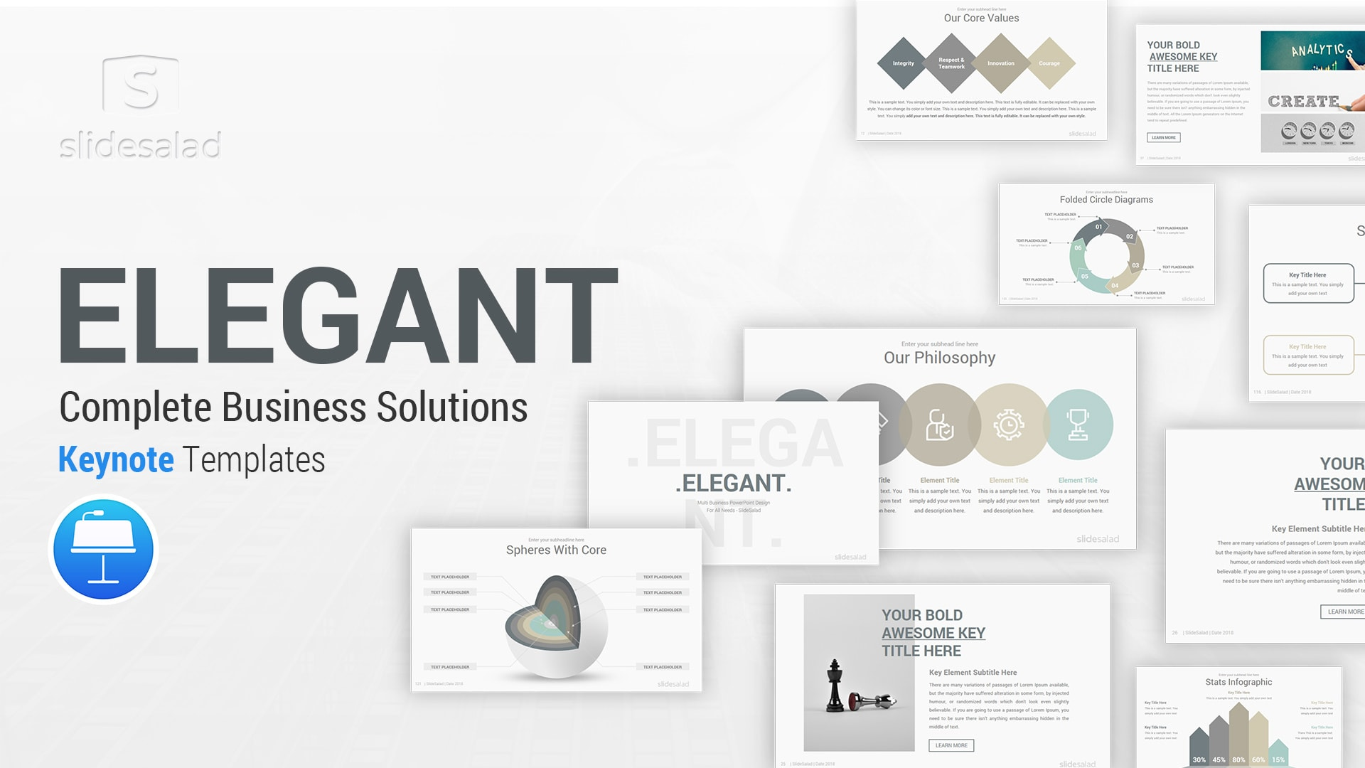 Elegant Keynote Template Designs – Minimal Mac Keynote Presentation Template