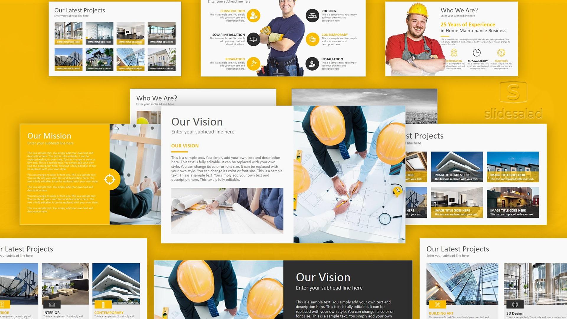 Construction Keynote Template Designs – Flexible Apple Keynote Template for Mac Presentations