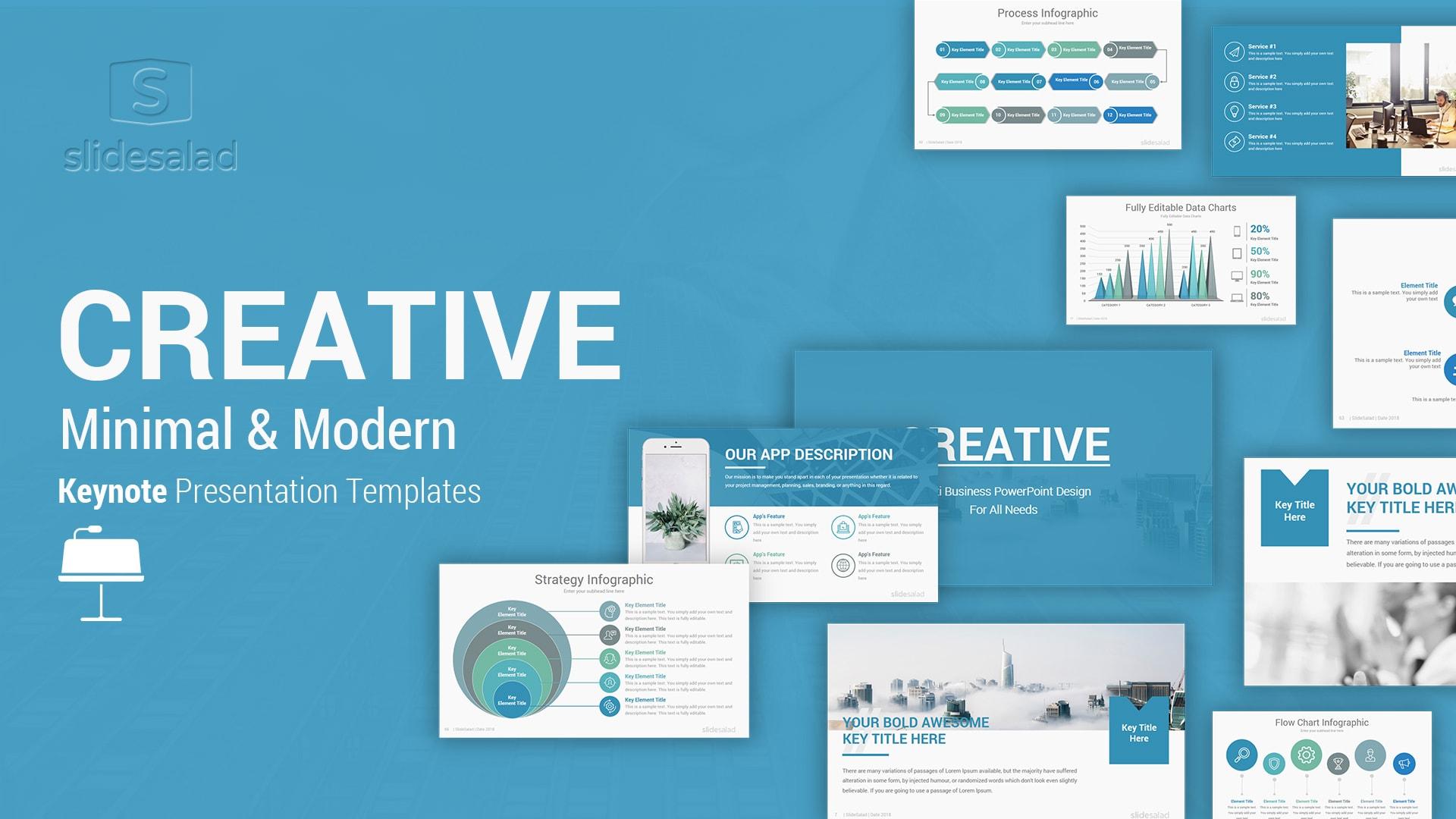 Creative Minimalist Keynote Template – Colorful Mac Keynote Presentation Template