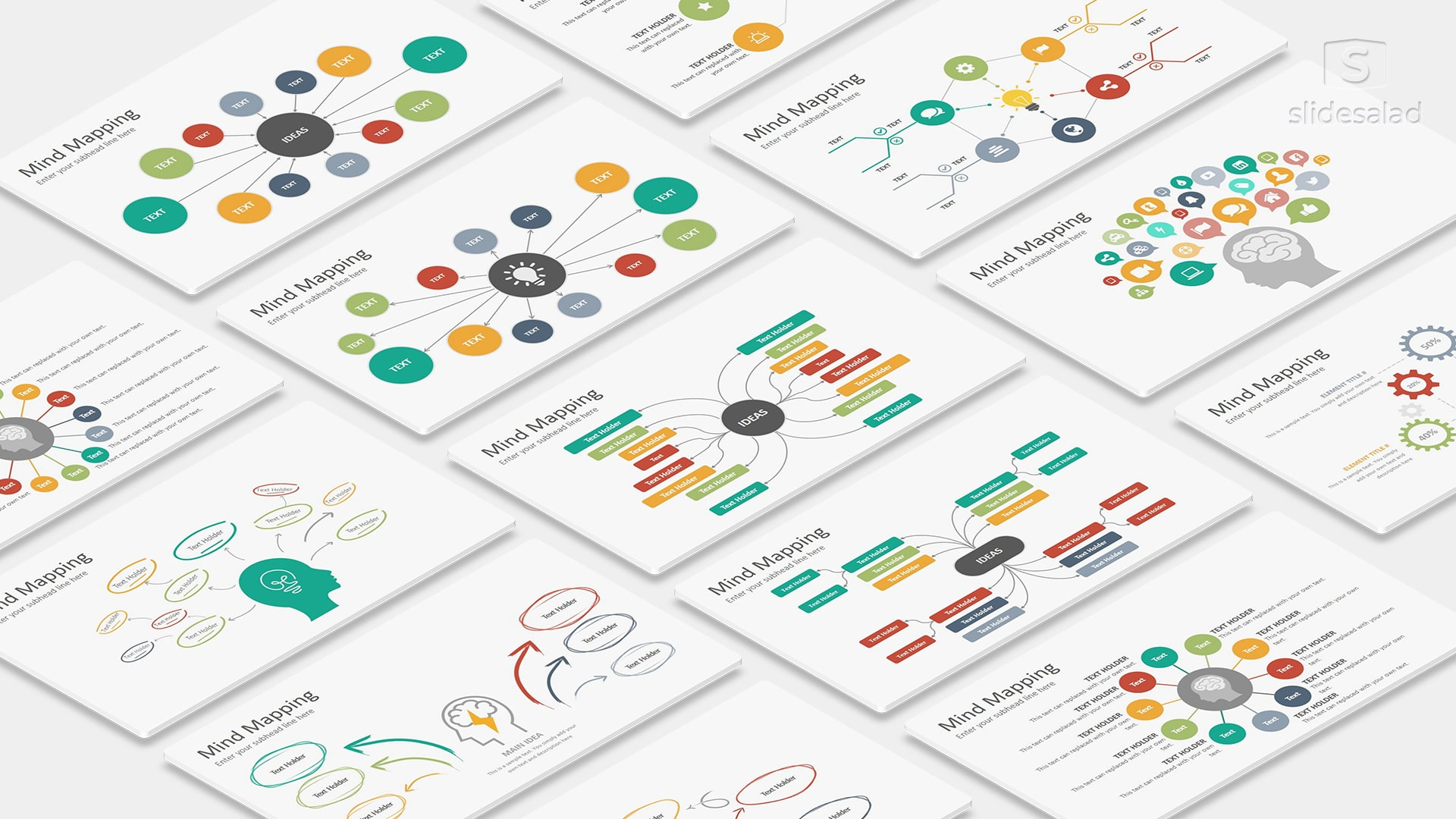 Mind Mapping Infographics PowerPoint Presentation Template – Trending Infographics for PowerPoint