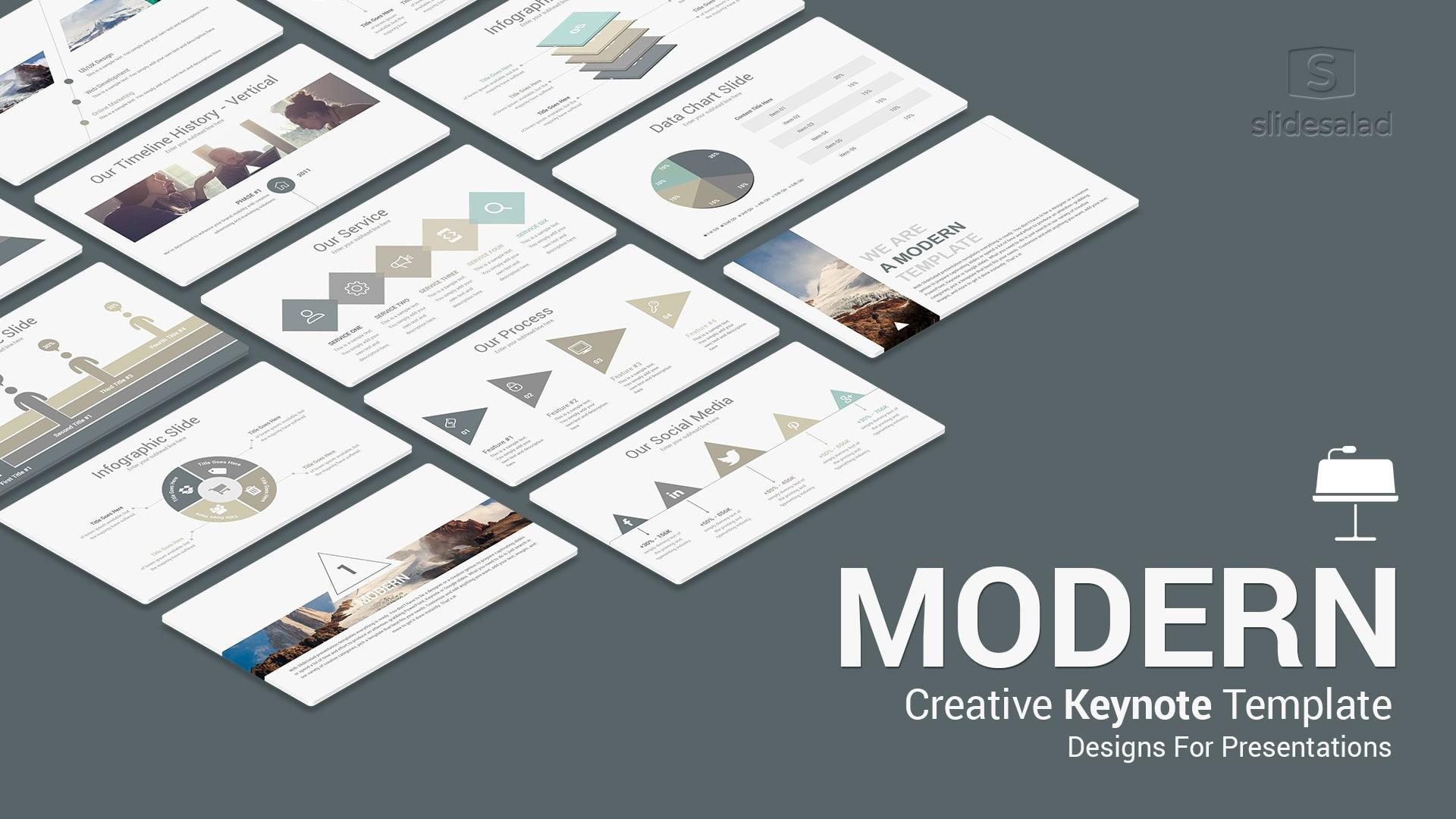 Modern Keynote Template For Presentations – Modern Mac Keynote Presentation Template