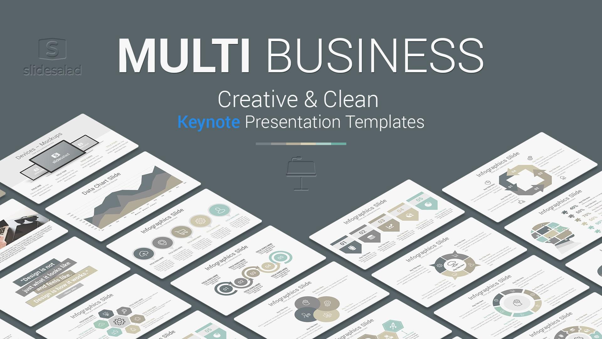 Multi Business Keynote Presentation Template – Multipurpose Business Presentation Template for Apple Keynote