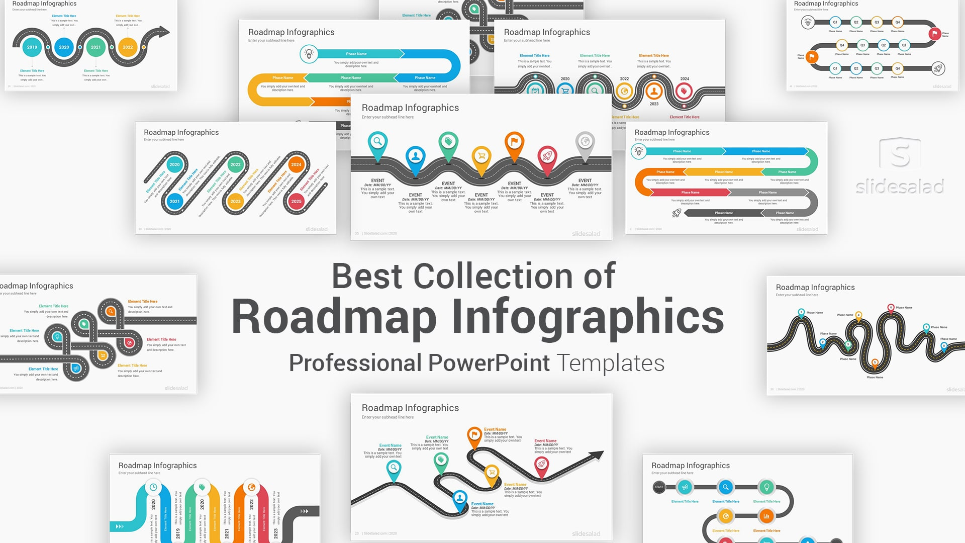 Best Roadmap Infographics PowerPoint Template Designs – Top PPT Infographic Themes