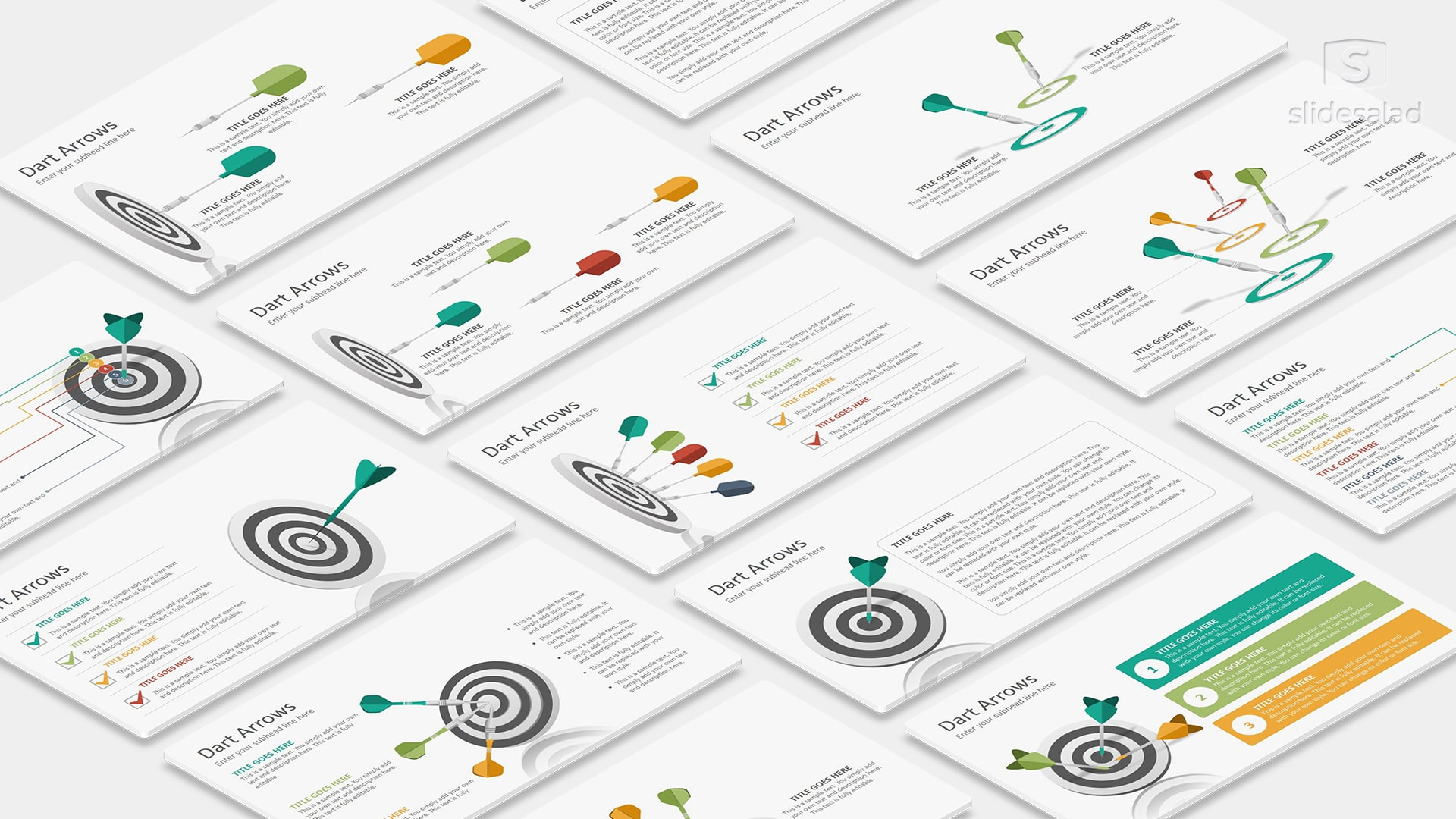 Targets and Goal Infographics PowerPoint Presentation Template – Minimalist and Clean Infographic Designs