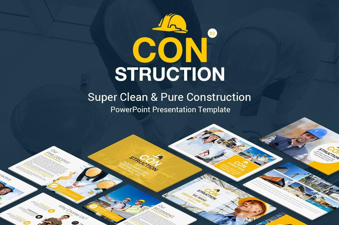 Best Construction PowerPoint Presentation Template – Best Building Construction PPT Templates