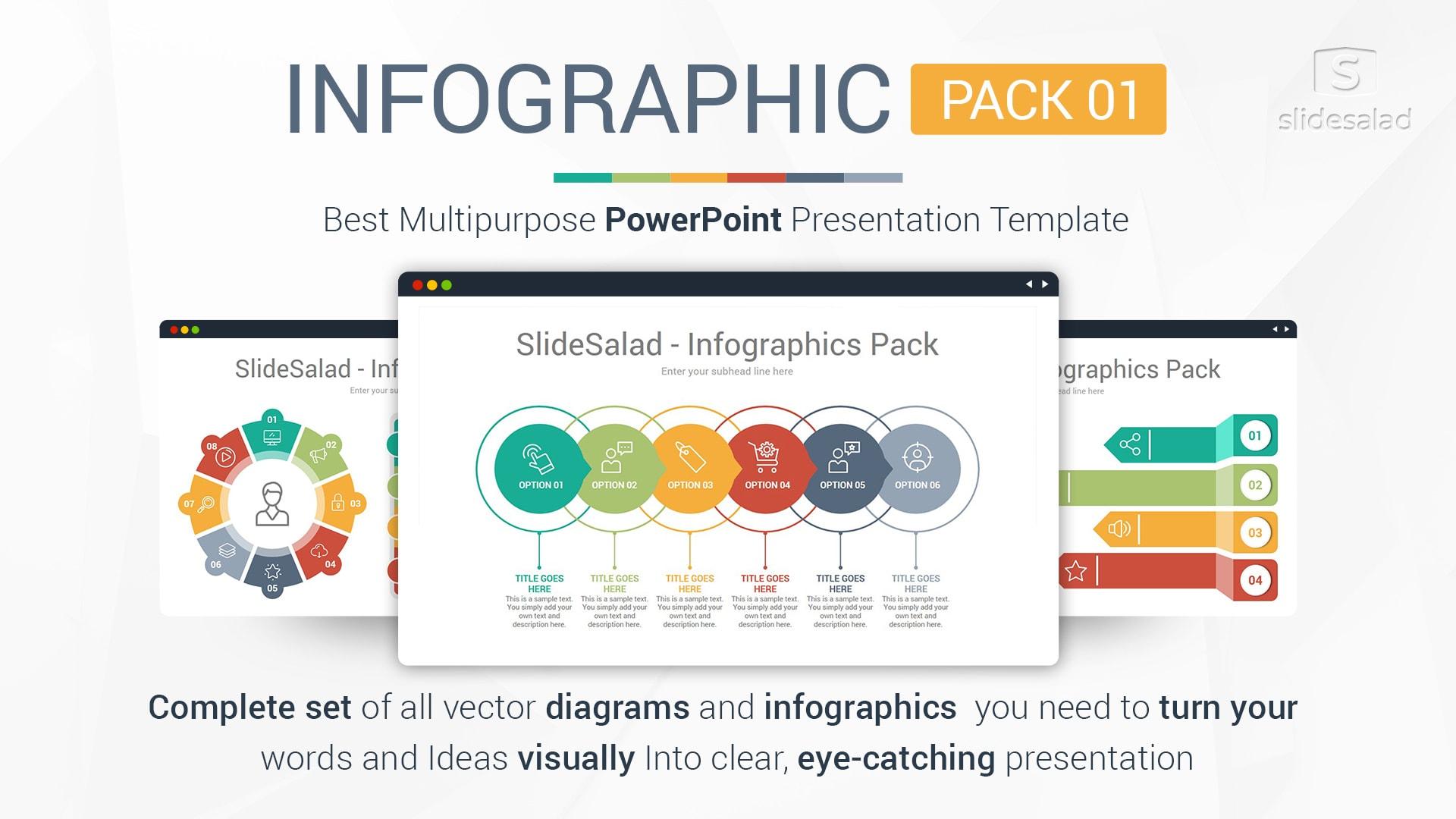 Best Infographics Designs PowerPoint Template Pack 01 – Great Modern Presentation Templates