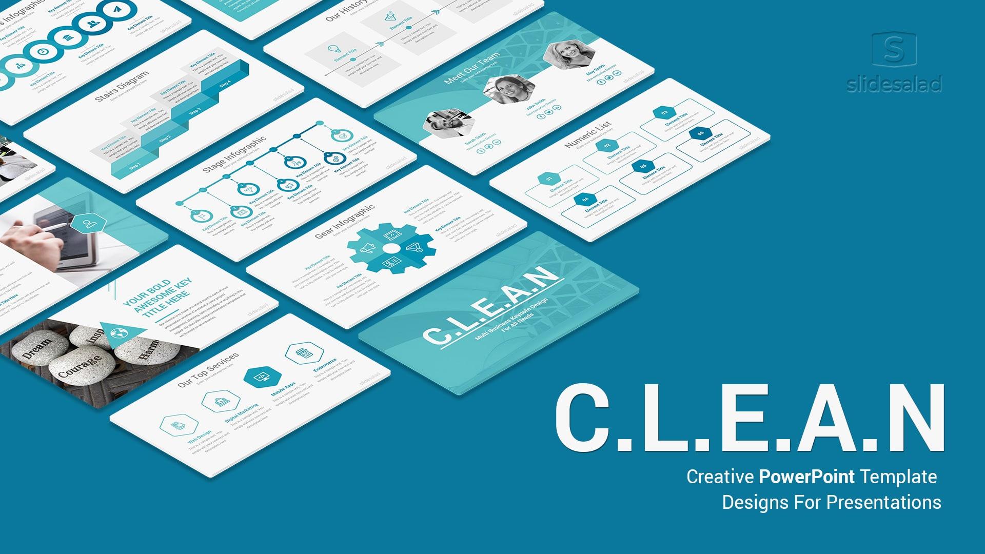Clean Business PowerPoint Templates – Sleek PowerPoint Templates