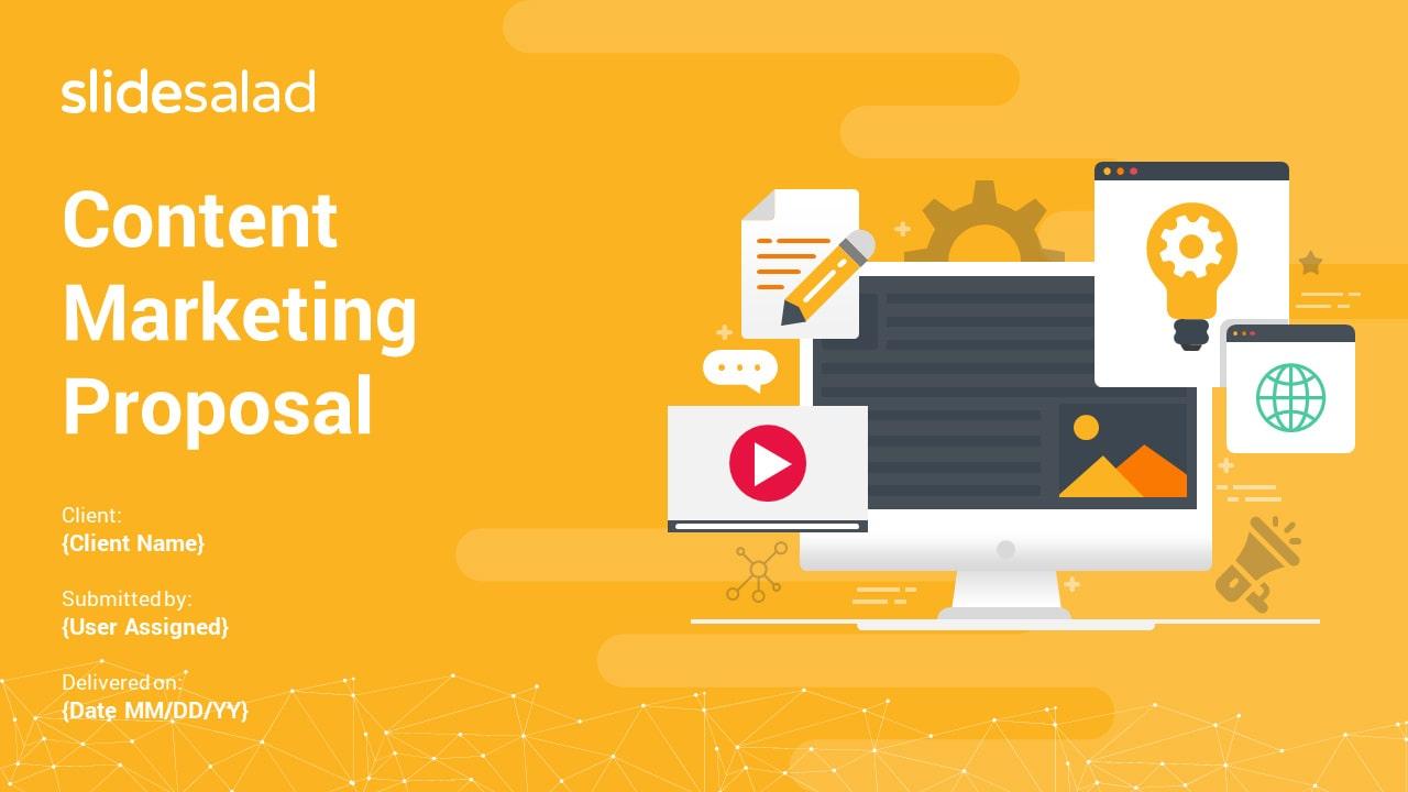 Content Marketing Proposal PowerPoint Templates – Clean PPT Slide Deck
