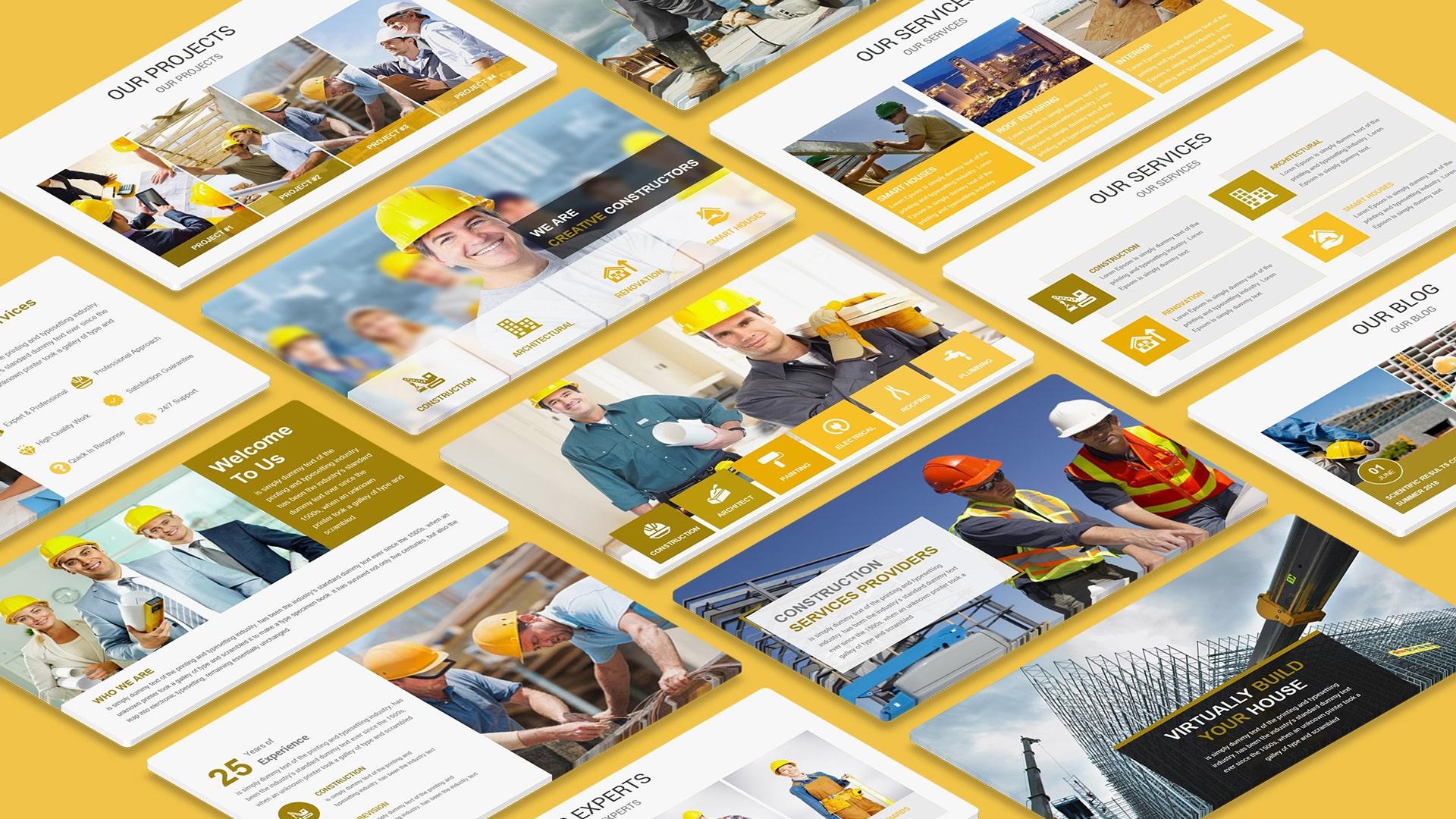 Pro Construction PowerPoint Presentation Template PPT Themes – Construction Presentation Templates