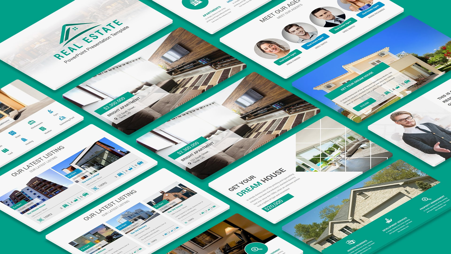Real Estate Property PowerPoint Template – Multipurpose Real Estate PowerPoint Templates