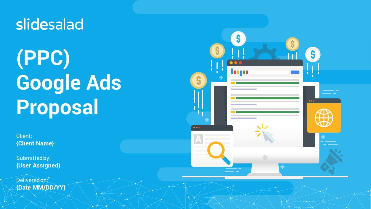 (PPC) Google Ads Proposal PowerPoint Templates – Minimal Proposal PowerPoint Template