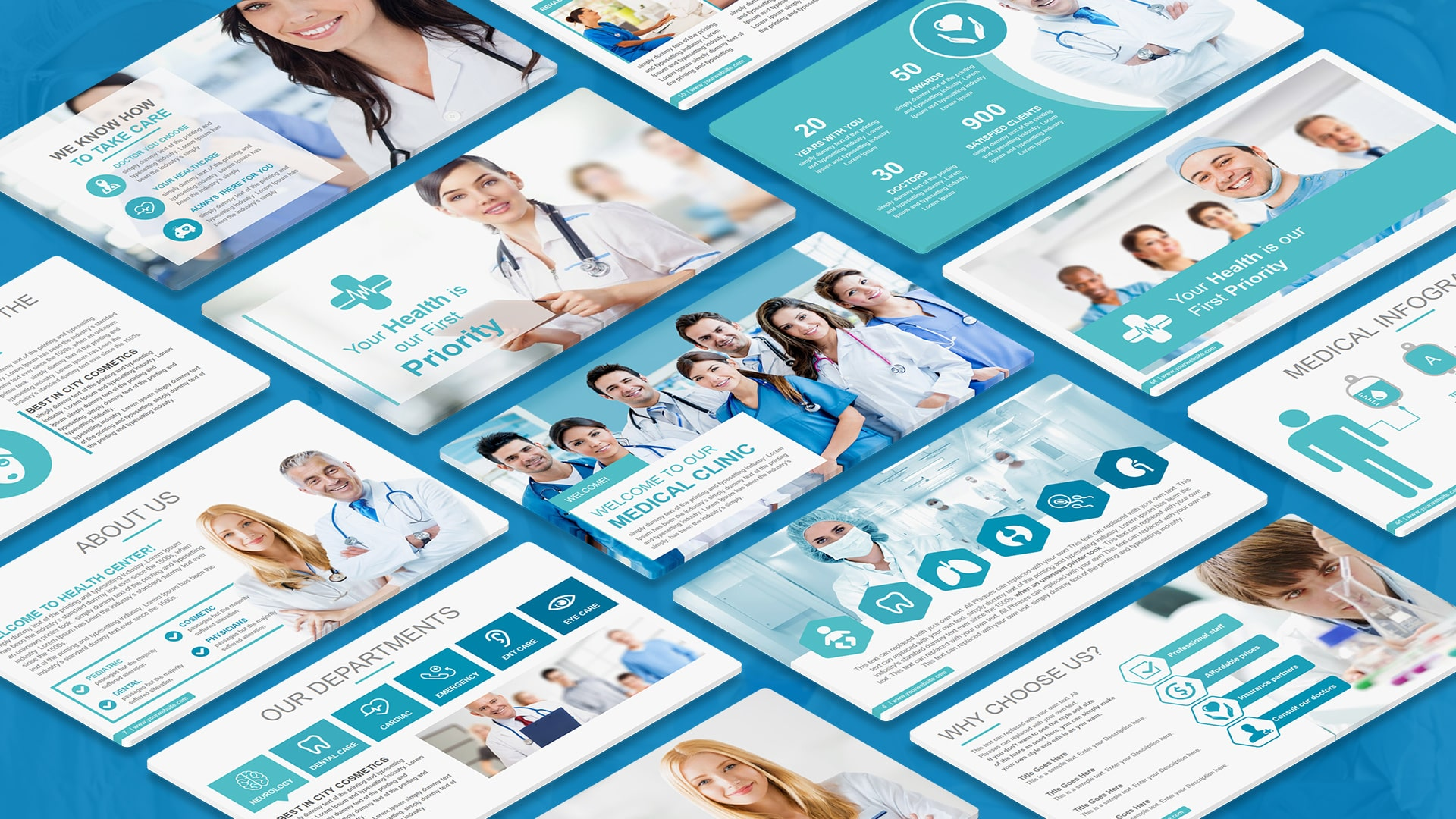 Medical Professional PowerPoint Template – Medical PowerPoint Template Design