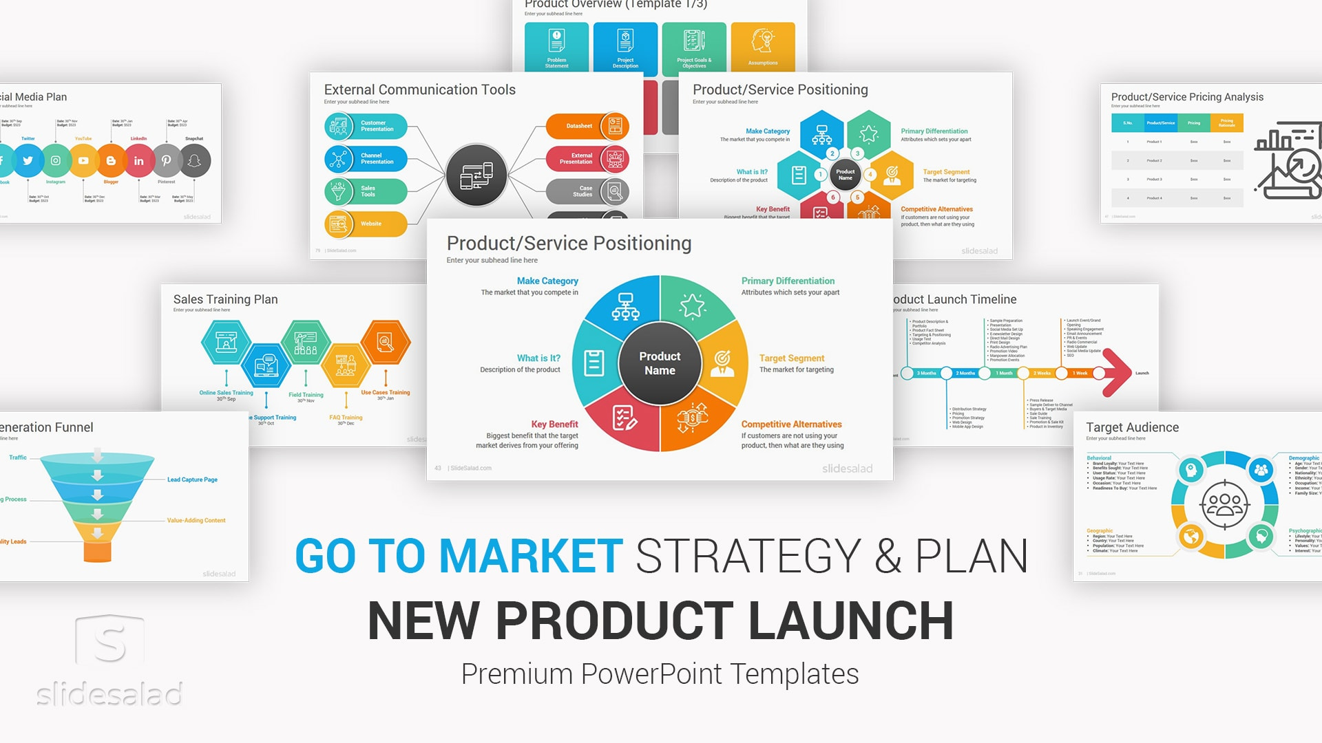 New Product Launch Go to Market Plan and Strategy PowerPoint Template – PowerPoint Investor Presentation Deck