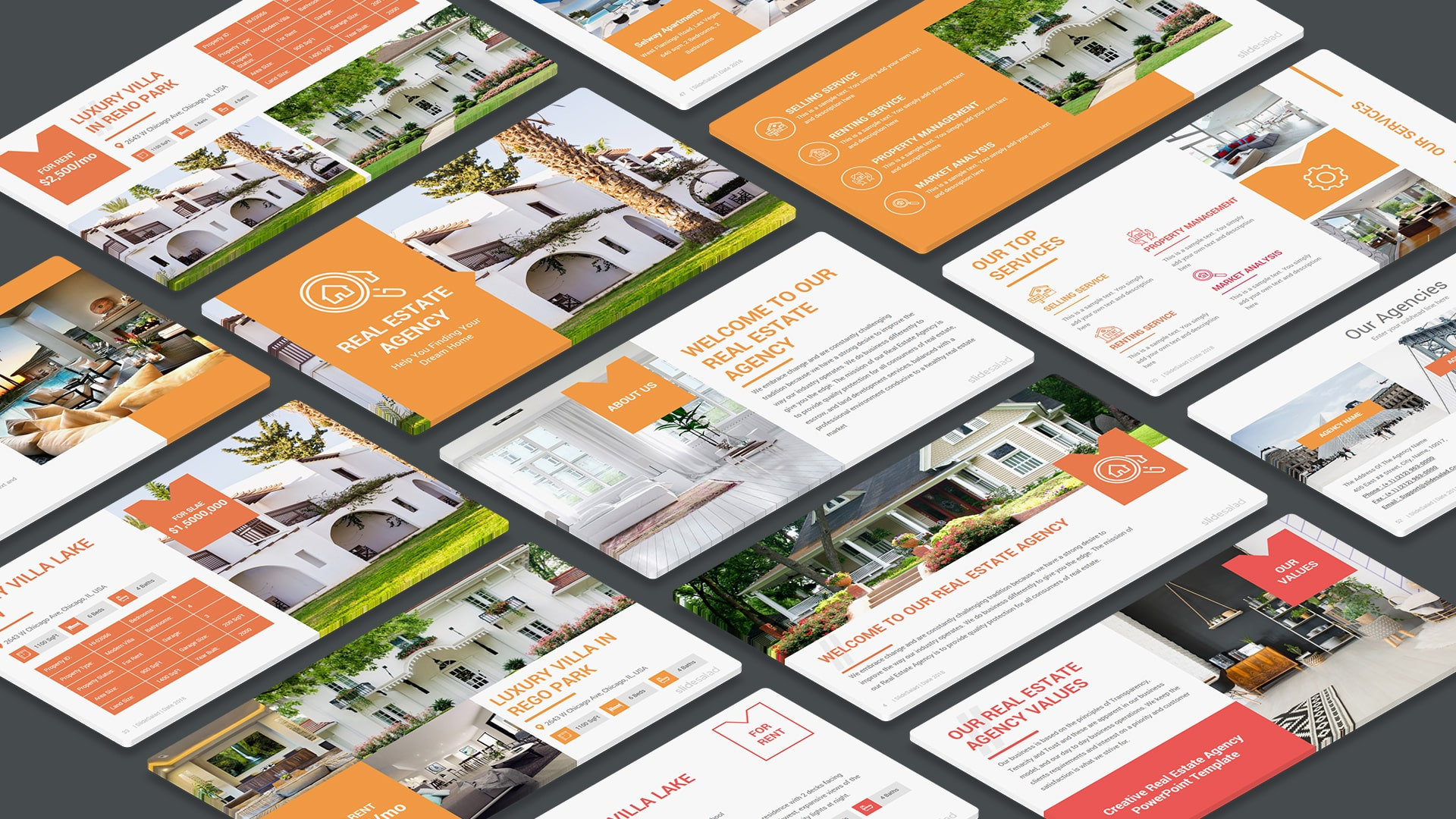 Real Estate Agency Marketing PowerPoint Template – Business Plan for Real Estate Marketing