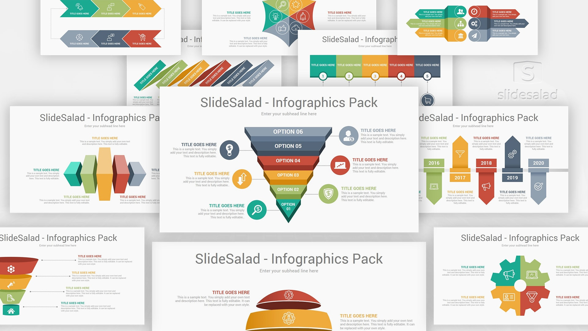 Top Infographics PowerPoint Template Pack 03 – Stylish Modern PowerPoint Presentations
