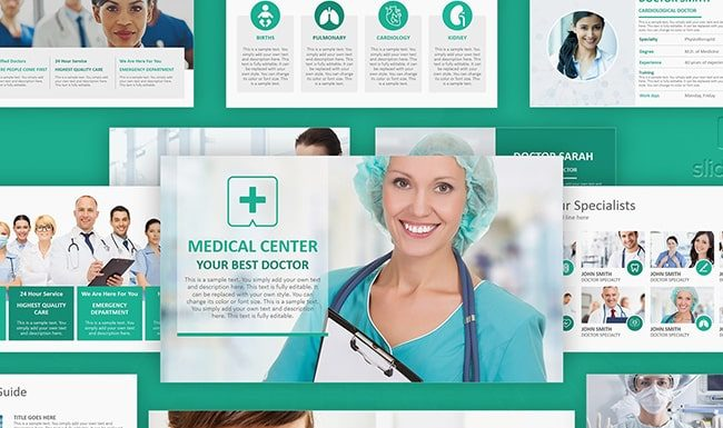 Modern Medical Healthcare PPT Slide Template – Medical PowerPoint Slideshow Theme