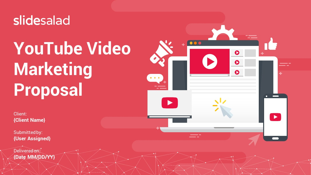 YouTube Video Marketing Proposal PowerPoint Templates – Video Promotional Strategies PPT Templates