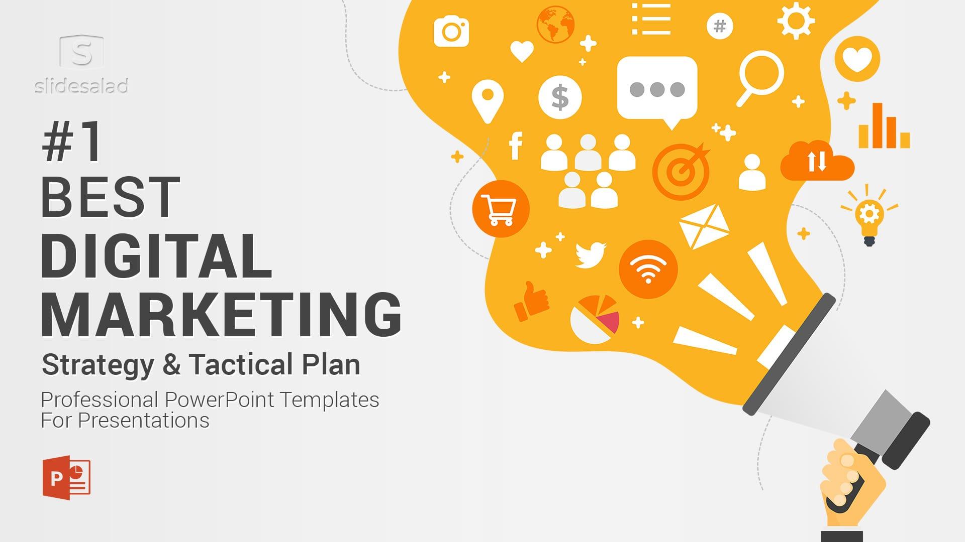 Best Digital Marketing PowerPoint (PPT) Template - Online Marketing PowerPoint Template