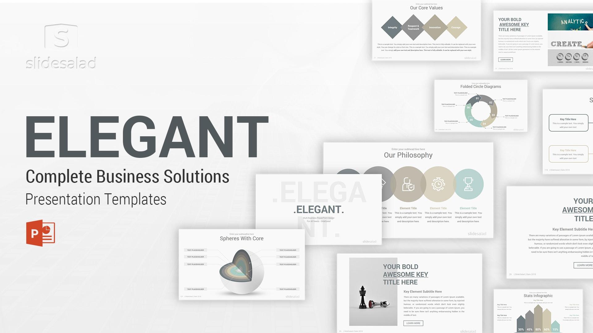 Elegant PowerPoint Template Designs - Simple PRO PowerPoint