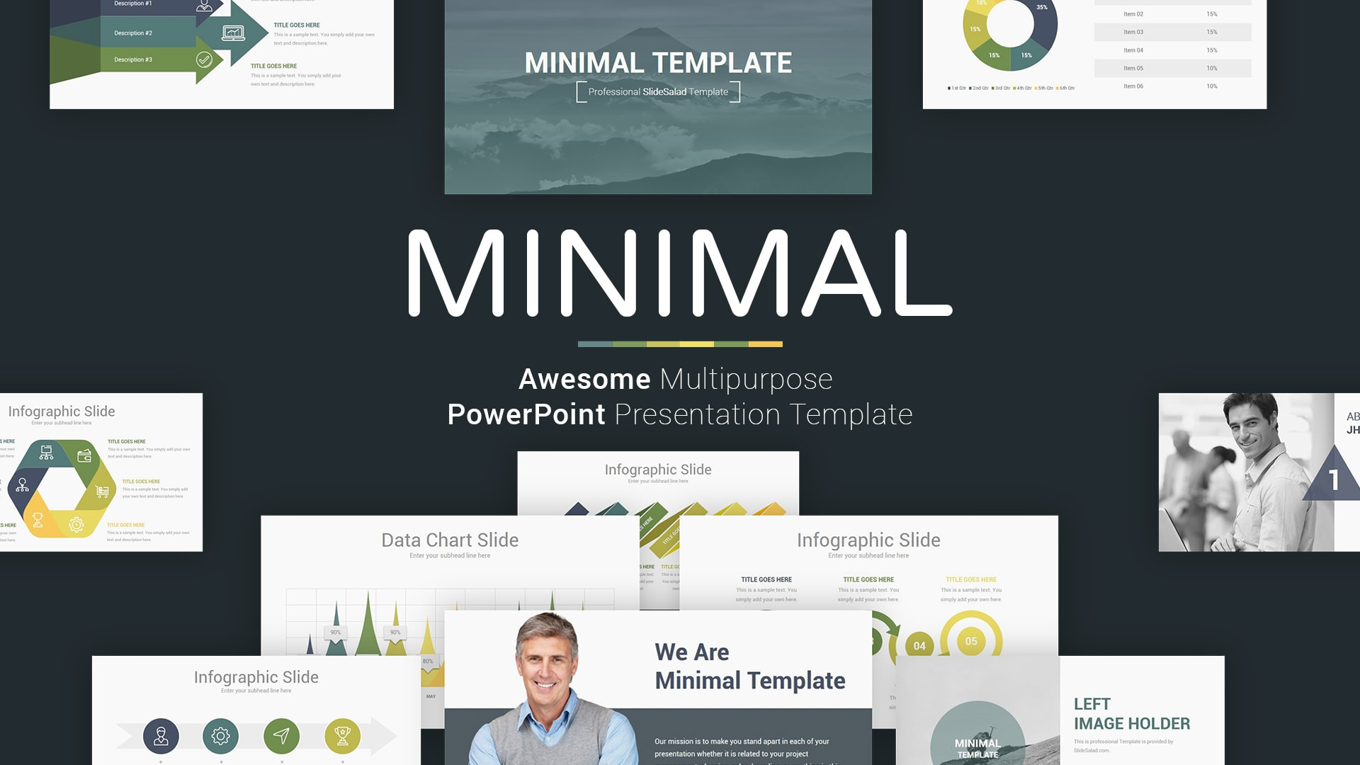 Professional Minimal PowerPoint Presentation Template Design - Fully Animated PowerPoint Template