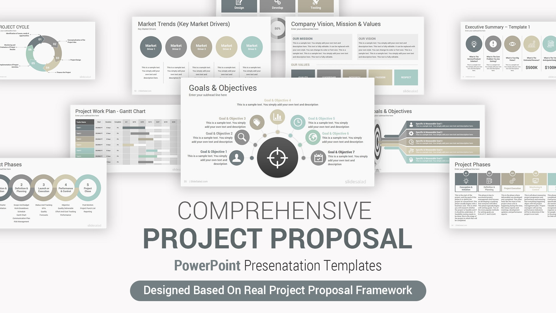 Best Project Proposal PowerPoint Template - Professional PPT Themes