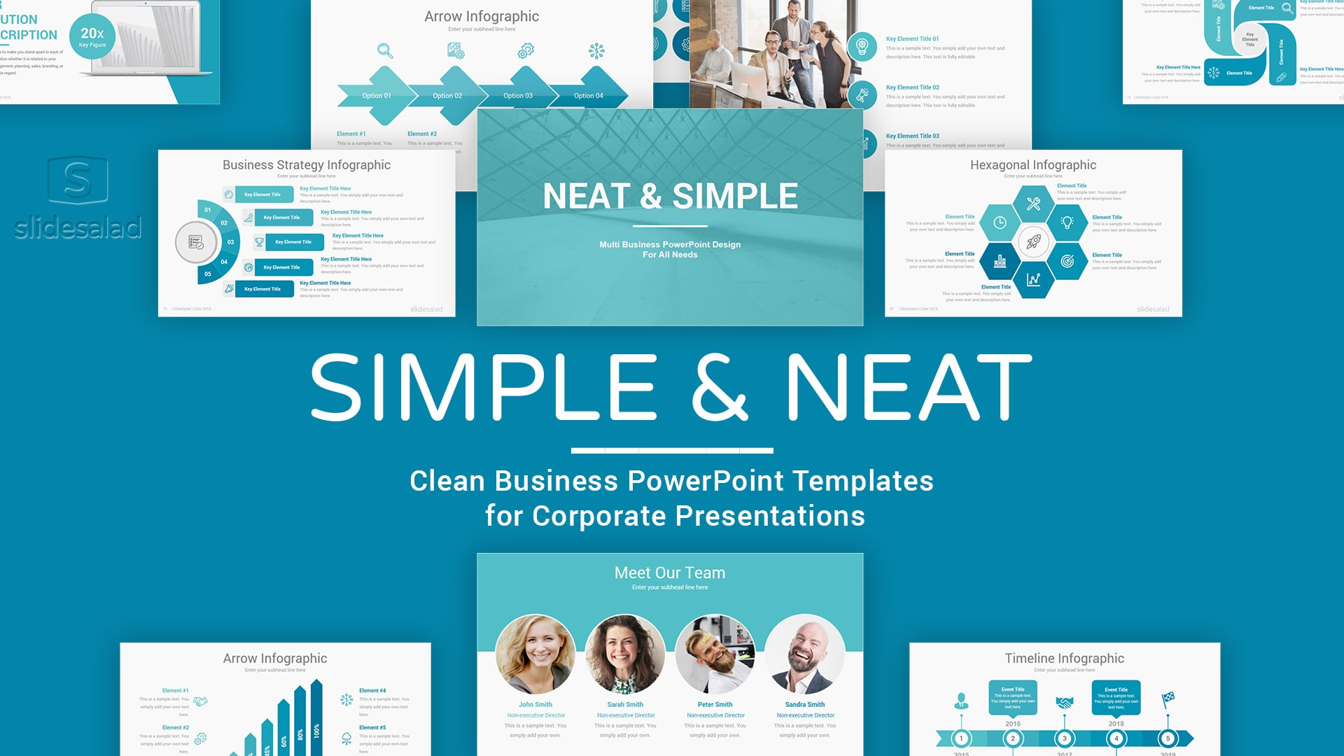 Simple PowerPoint Presentation Template - Clean PowerPoint Template