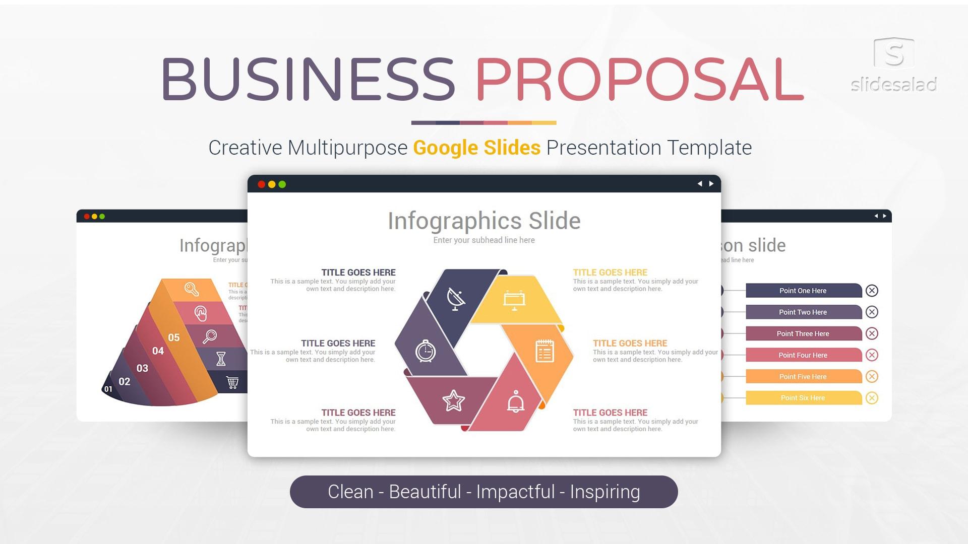 Business Proposal Google Slides Presentation Template - Top Minimalist Google Slides Theme