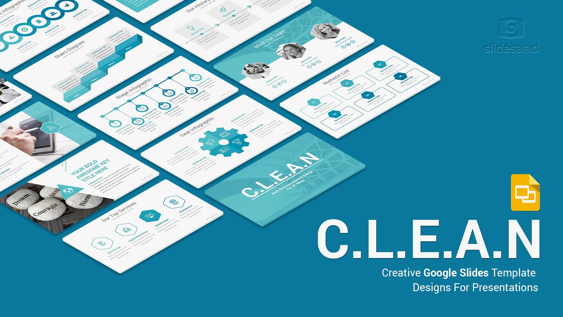 Clean Minimal Business Google Slides Template - Multipurpose Google Slides Theme