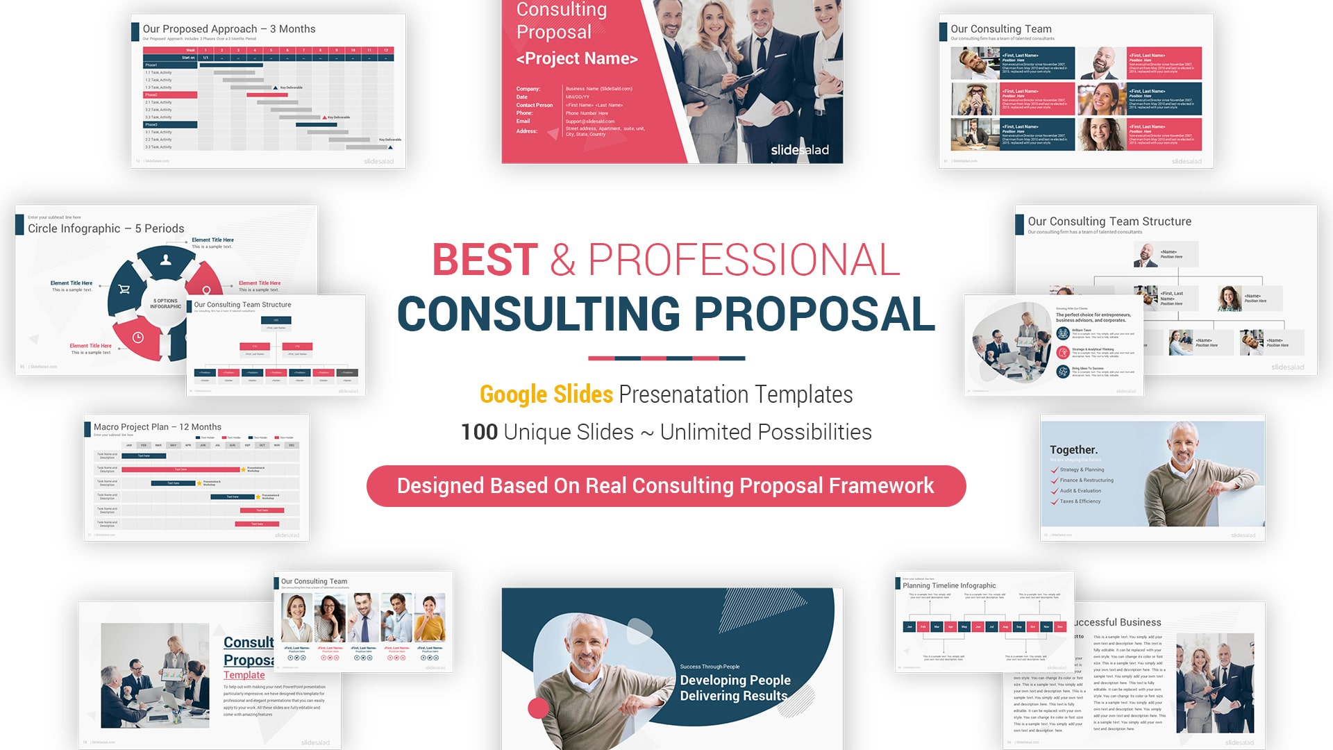 Best Consulting Proposal Google Slides Template - Business Proposal Google Slides Template