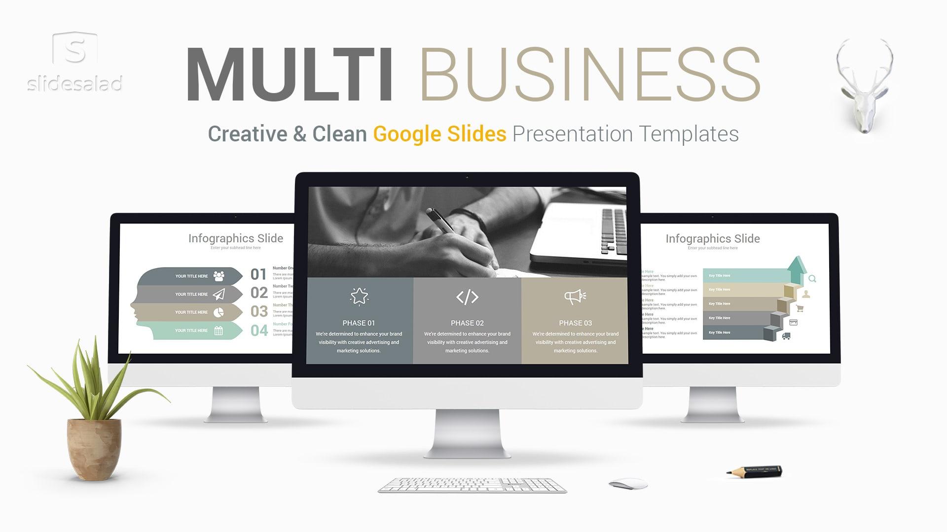 Multi Business Google Slides Presentation Template - Google Slides Template