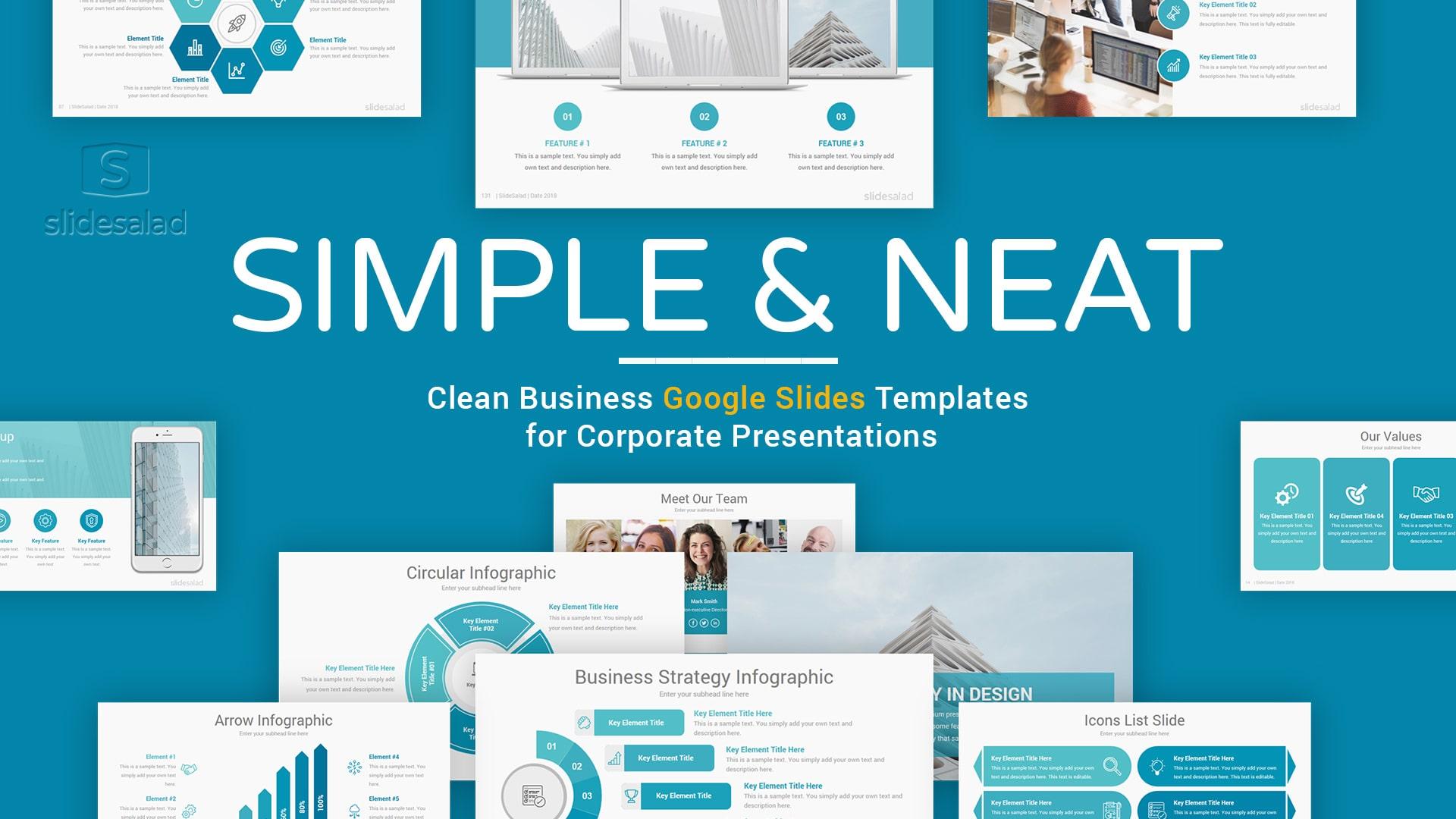 Simple Google Slides Presentation Template - Minimal Google Slides Template