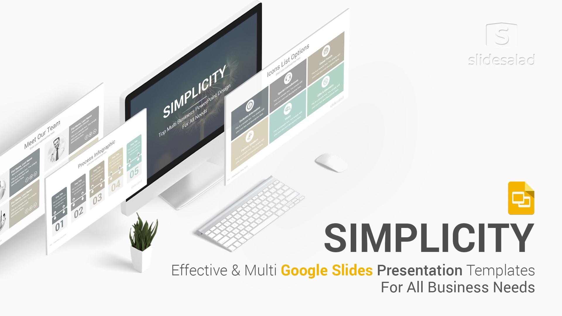 Simplicity Professional Business Google Slides Templates - Google Slides Minimal Template