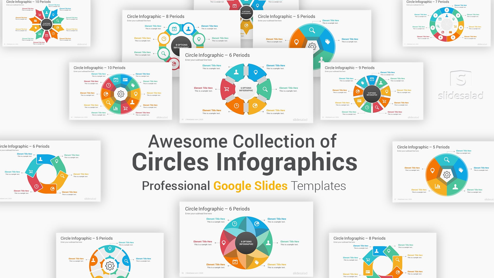 Awesome Circle Infographics Google Slides Template